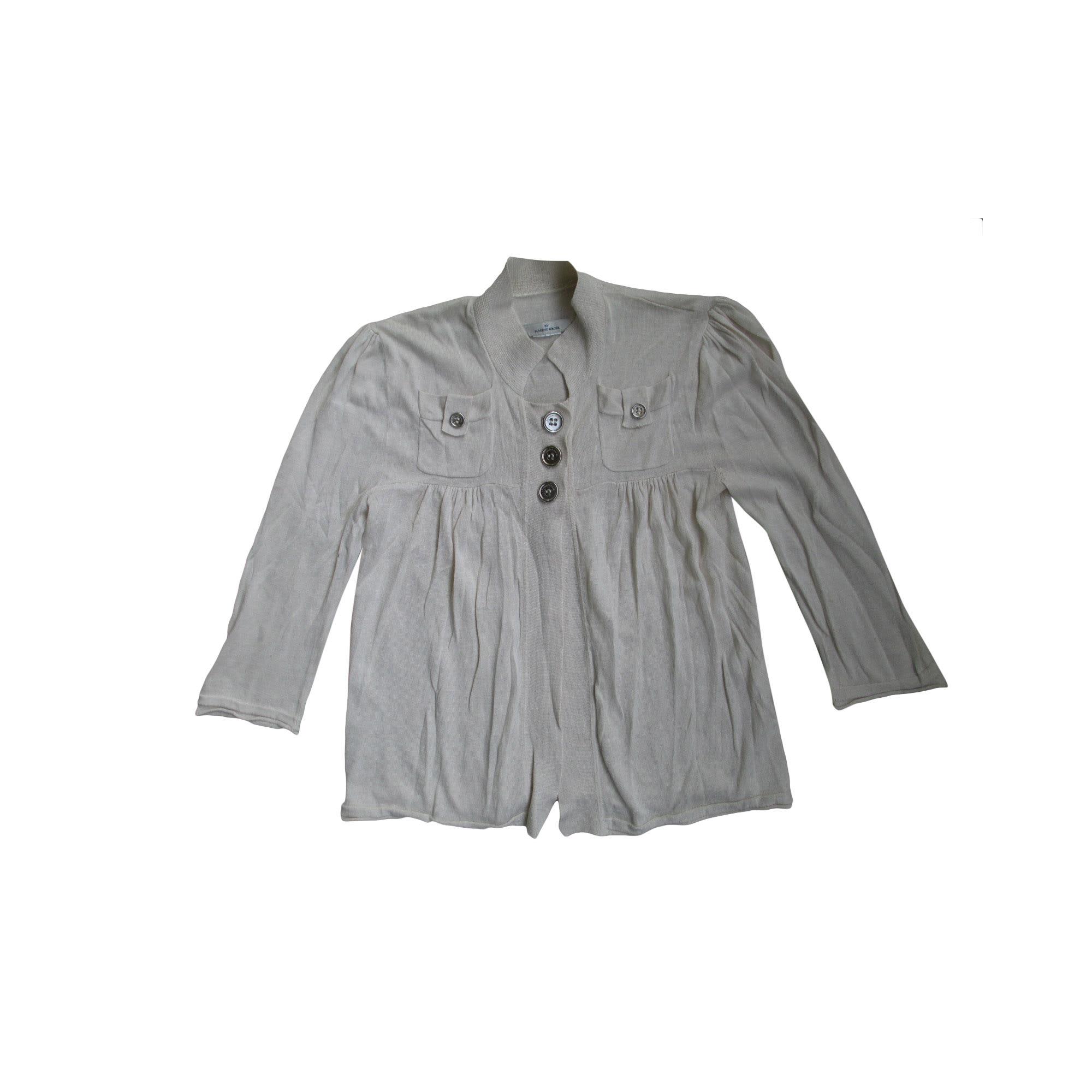 Gilet, cardigan BY MALENE BIRGER Blanc, blanc cassé, écru