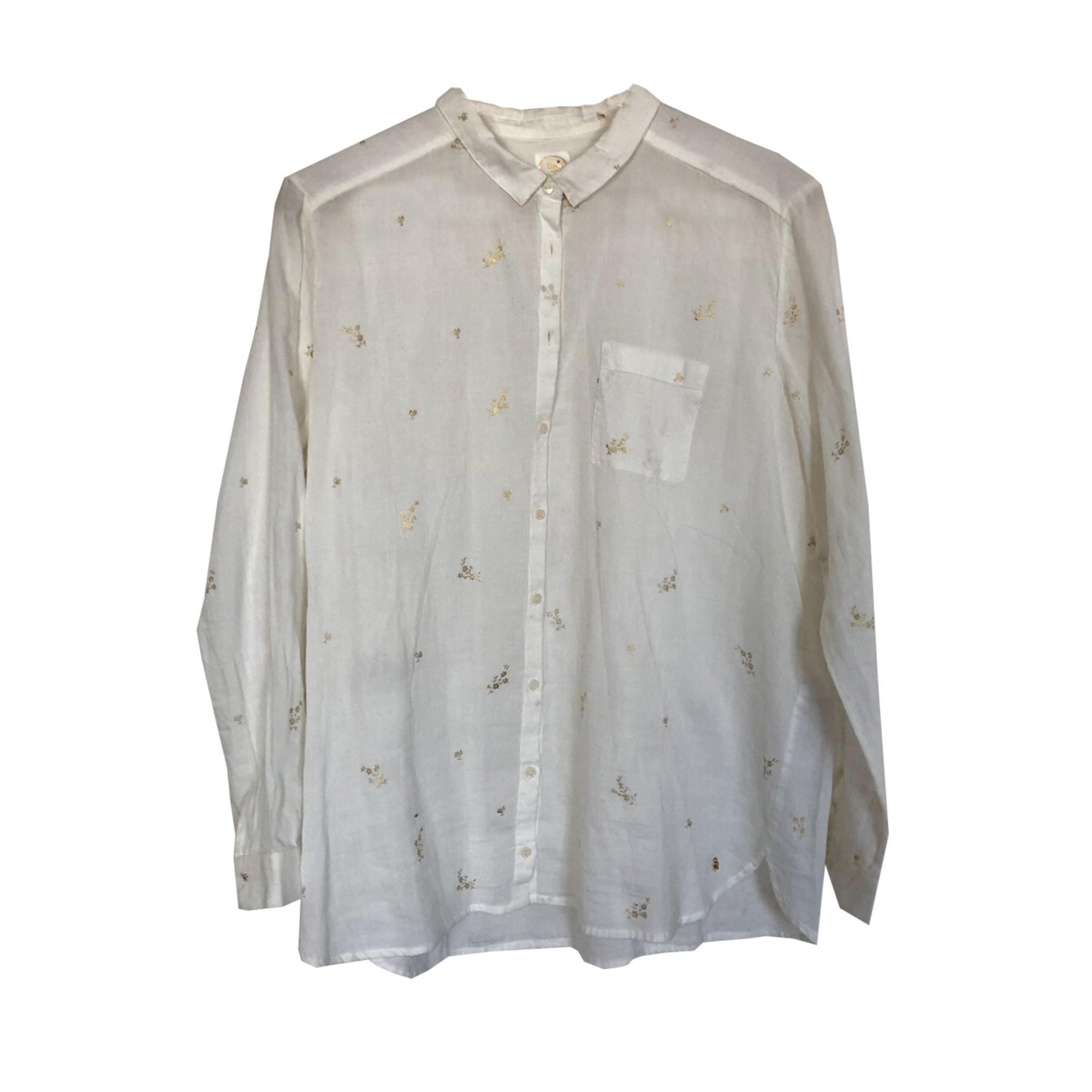 Chemise DES PETITS HAUTS Blanc, blanc cassé, écru