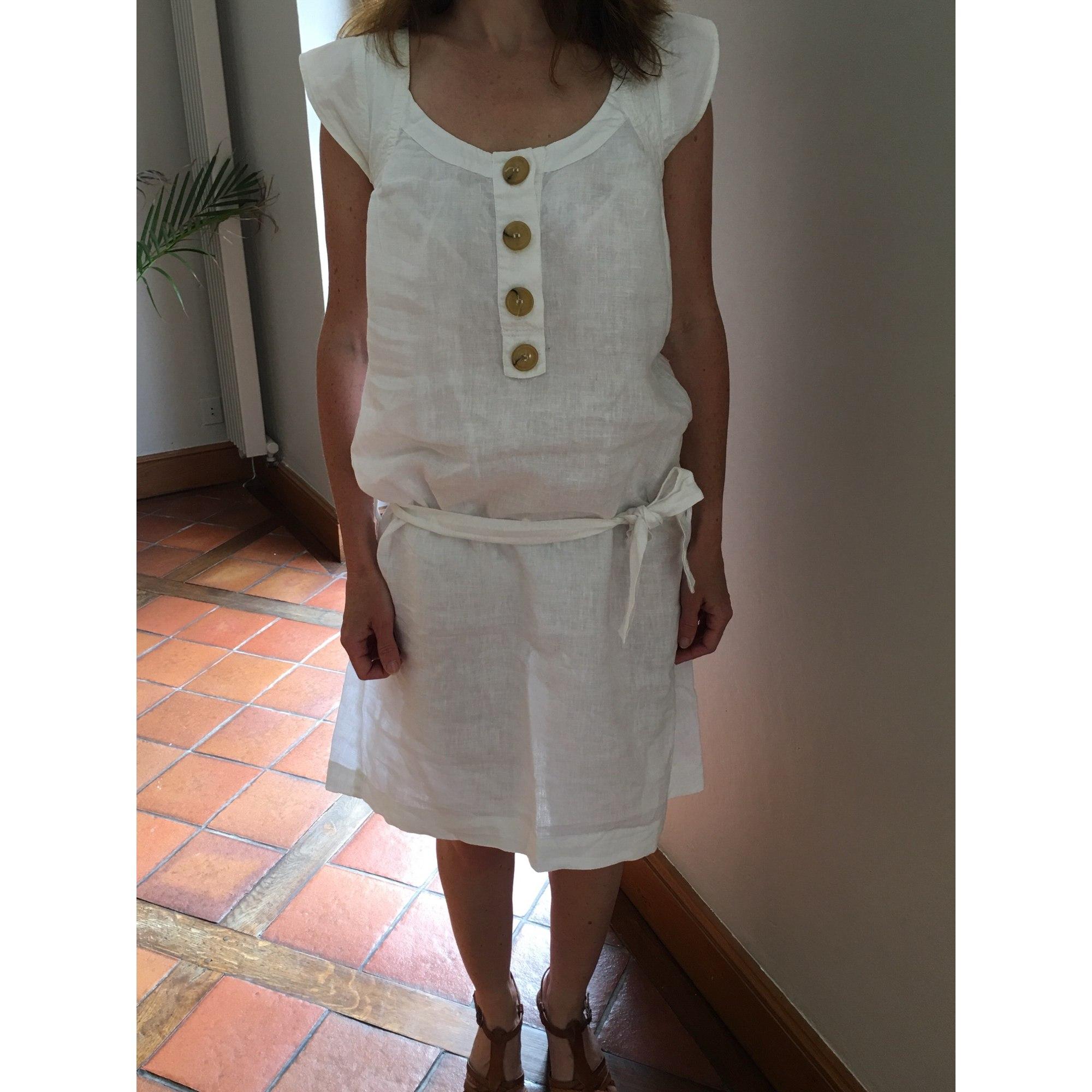 Robe courte ONE STEP Blanc, blanc cassé, écru