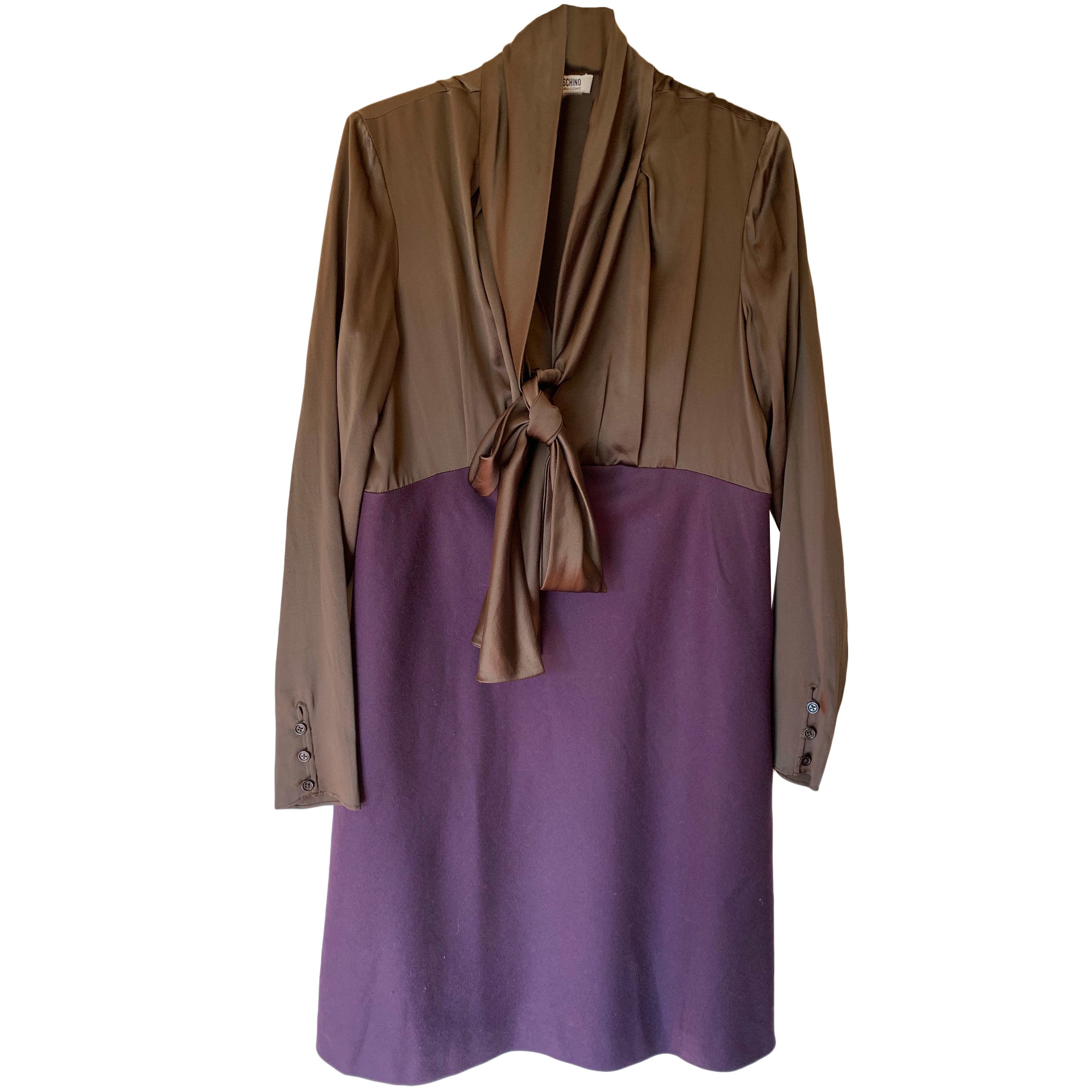 Robe courte MOSCHINO Violet, mauve, lavande