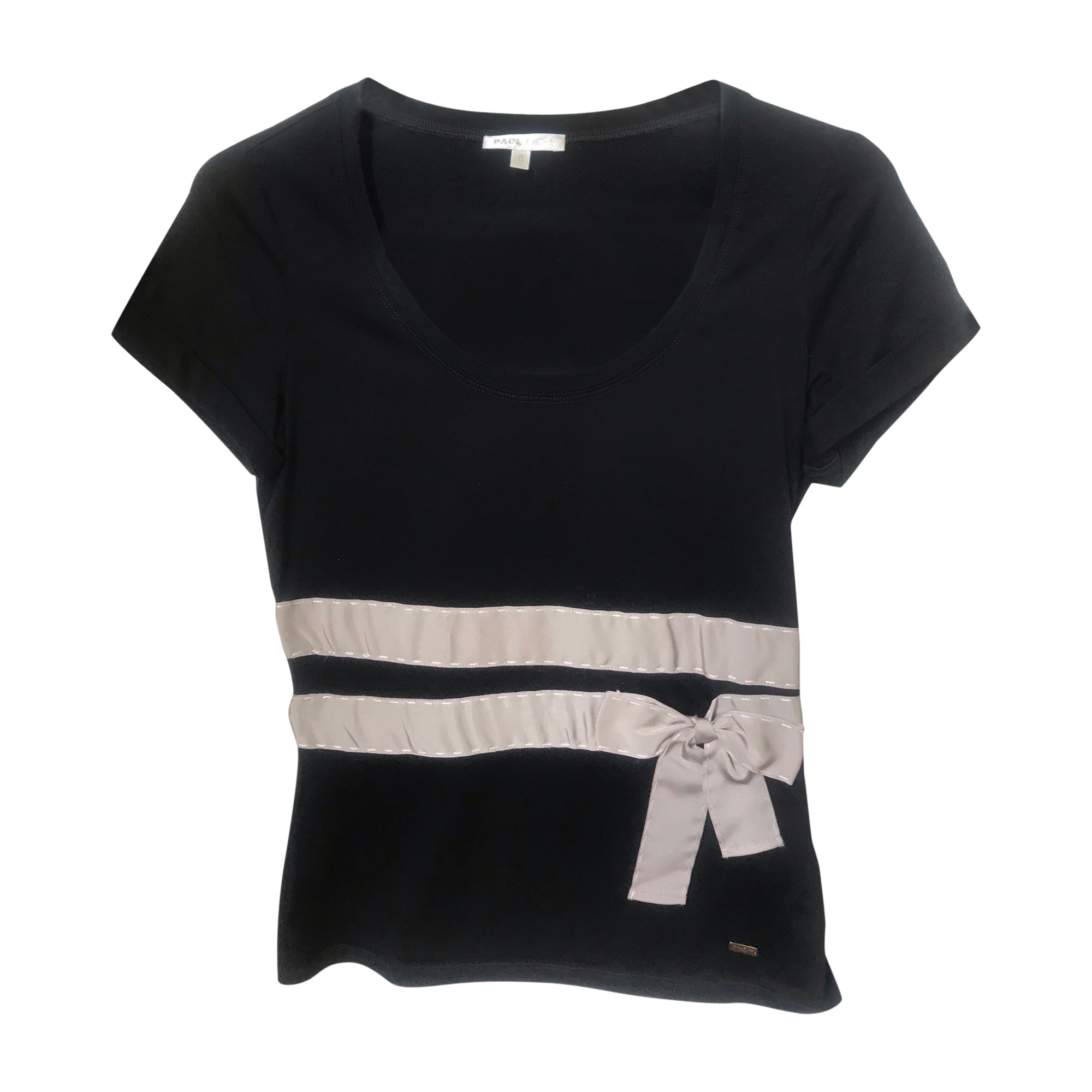Top, tee-shirt PAULE KA Noir