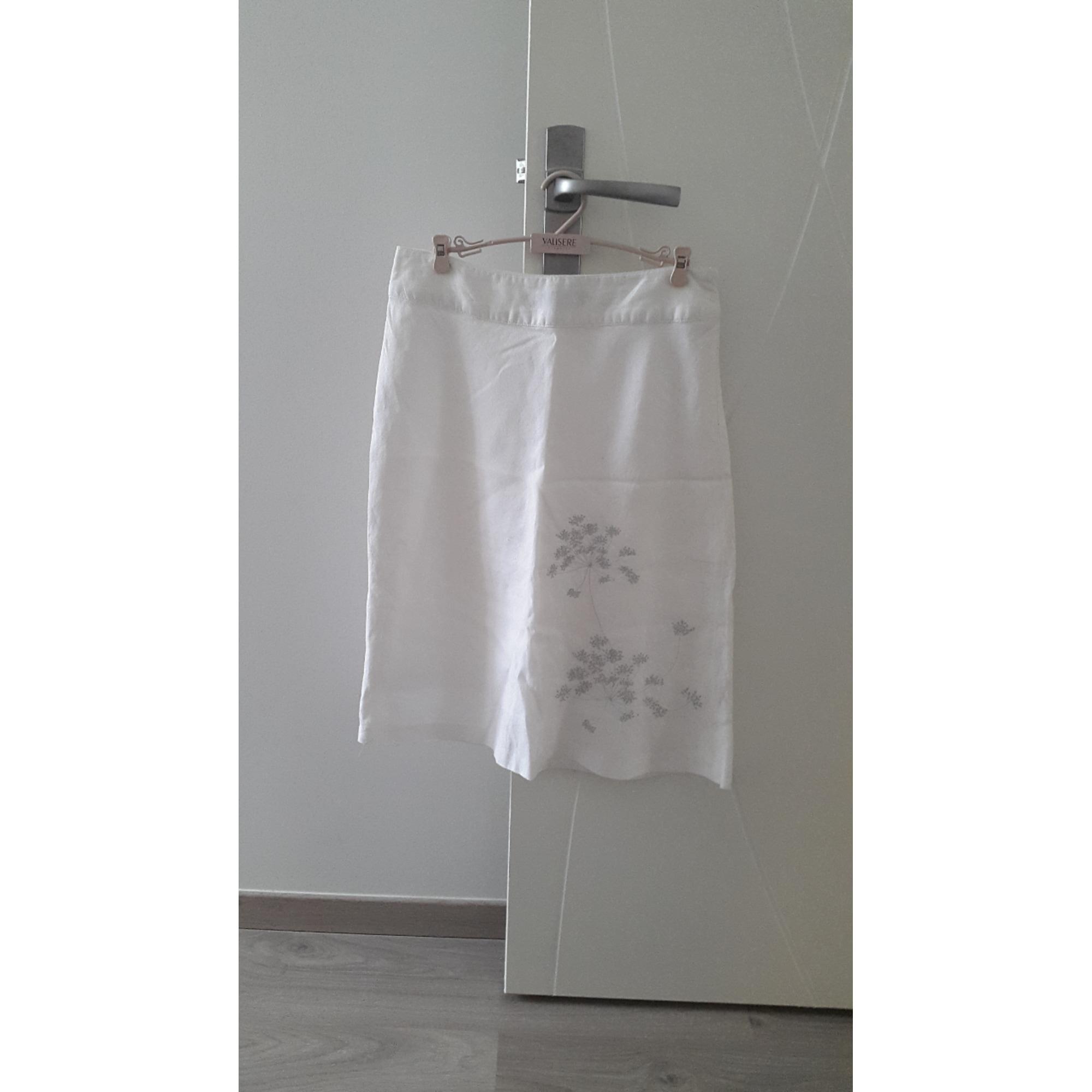 Jupe mi-longue ETAM Blanc, blanc cassé, écru