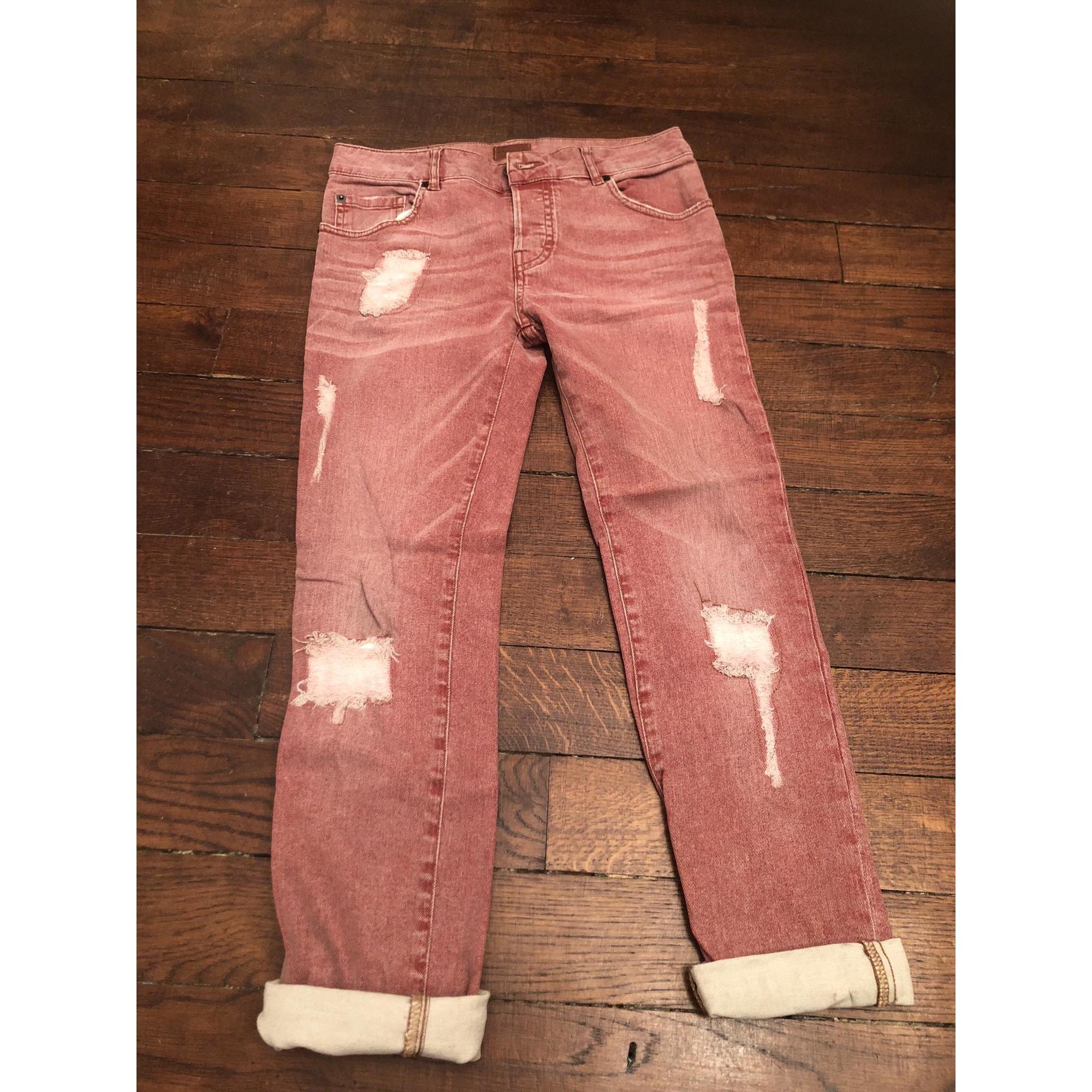 Jeans large, boyfriend HEARTLESS Rouge, bordeaux