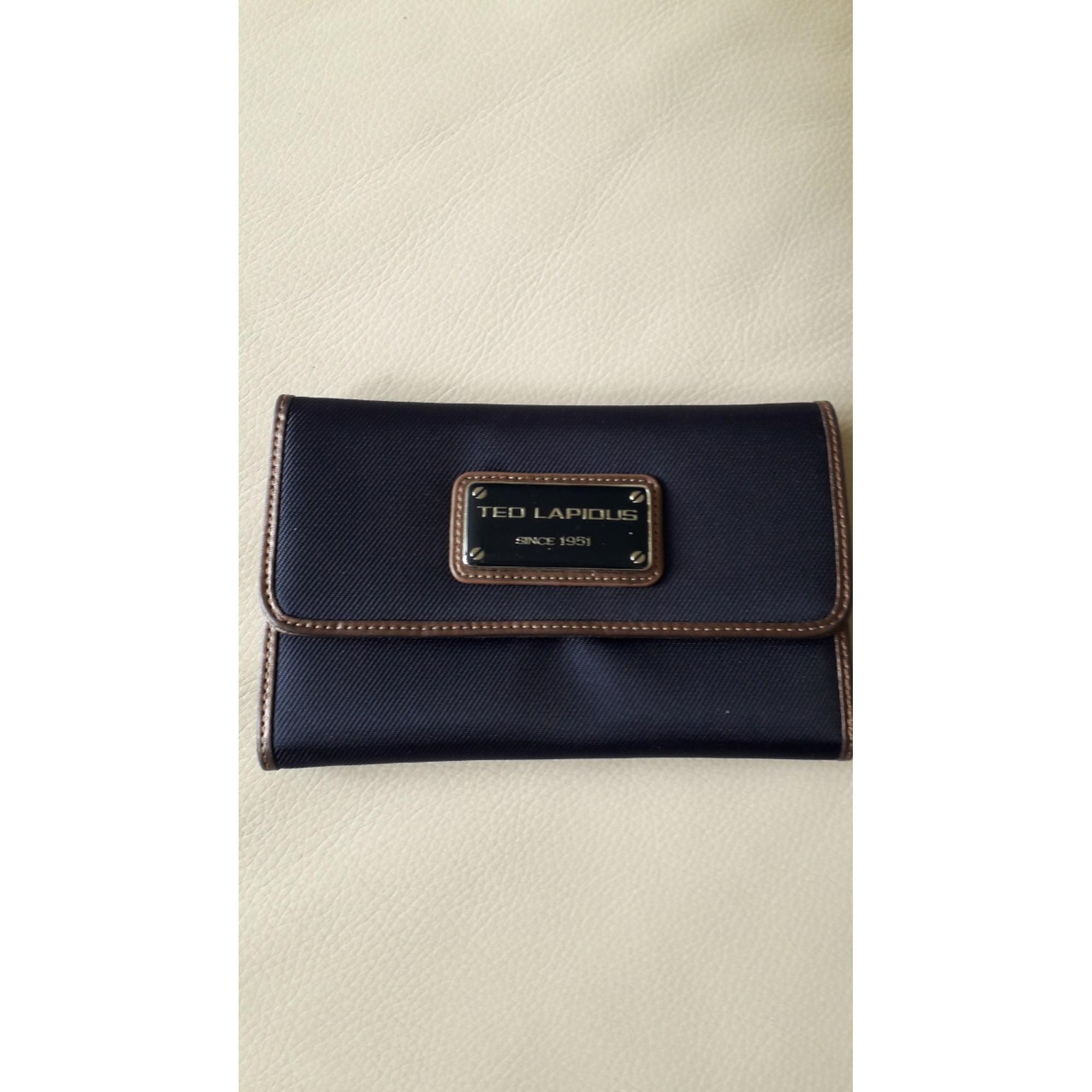 Portefeuille TED LAPIDUS Bleu, bleu marine, bleu turquoise
