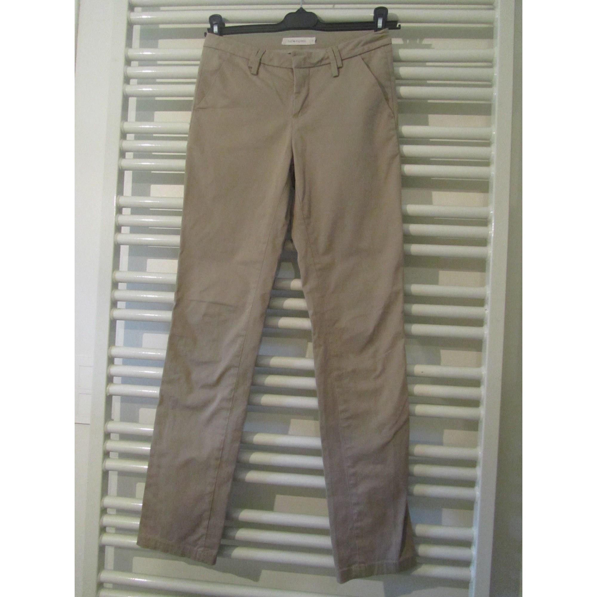 Pantalon droit SUD EXPRESS Beige, camel