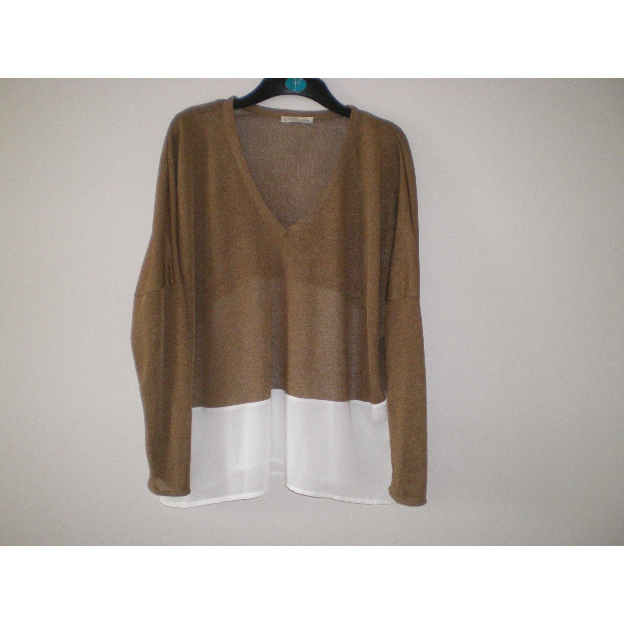 Top, tee-shirt ZARA Beige, camel