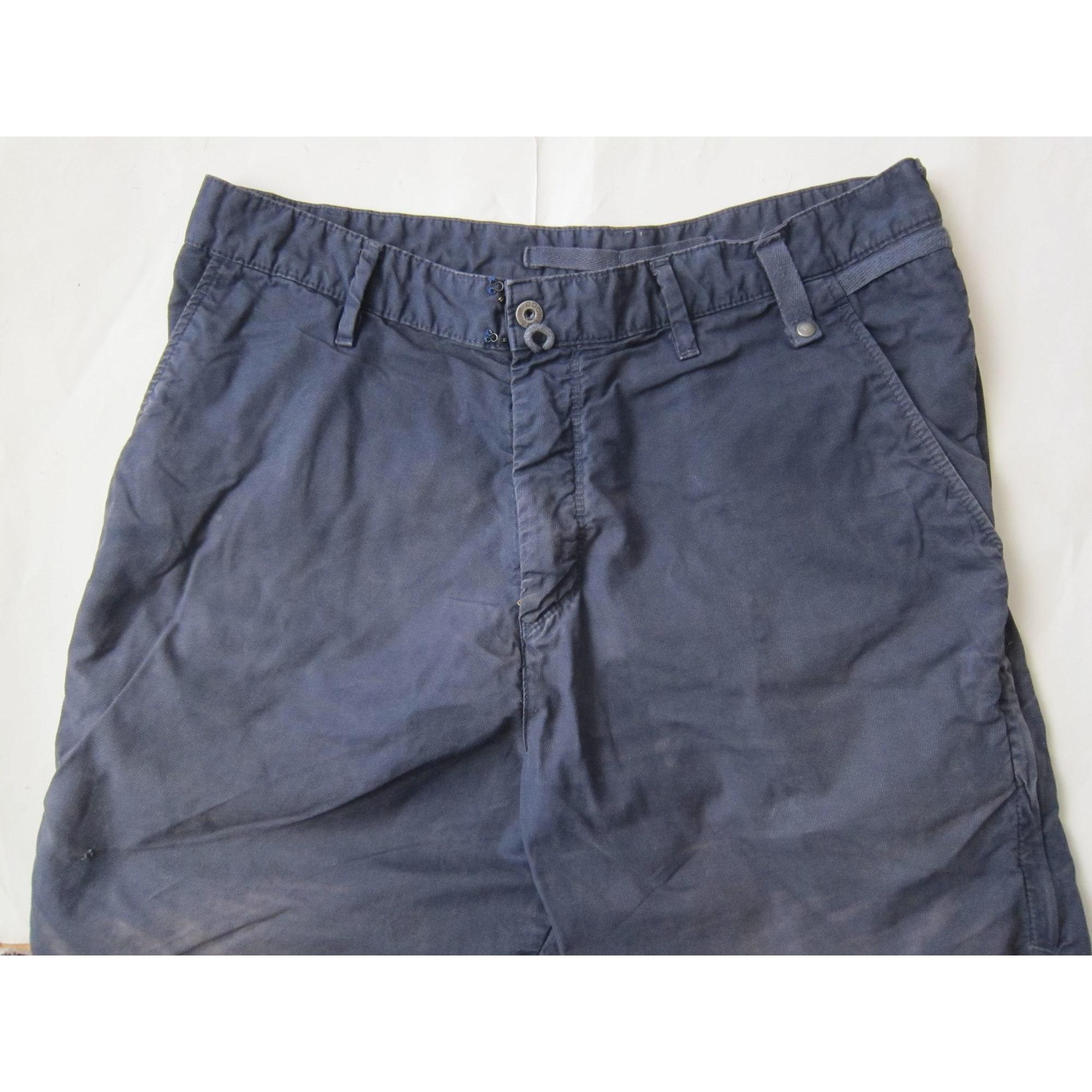 Pantalon droit DOCKERS Bleu, bleu marine, bleu turquoise
