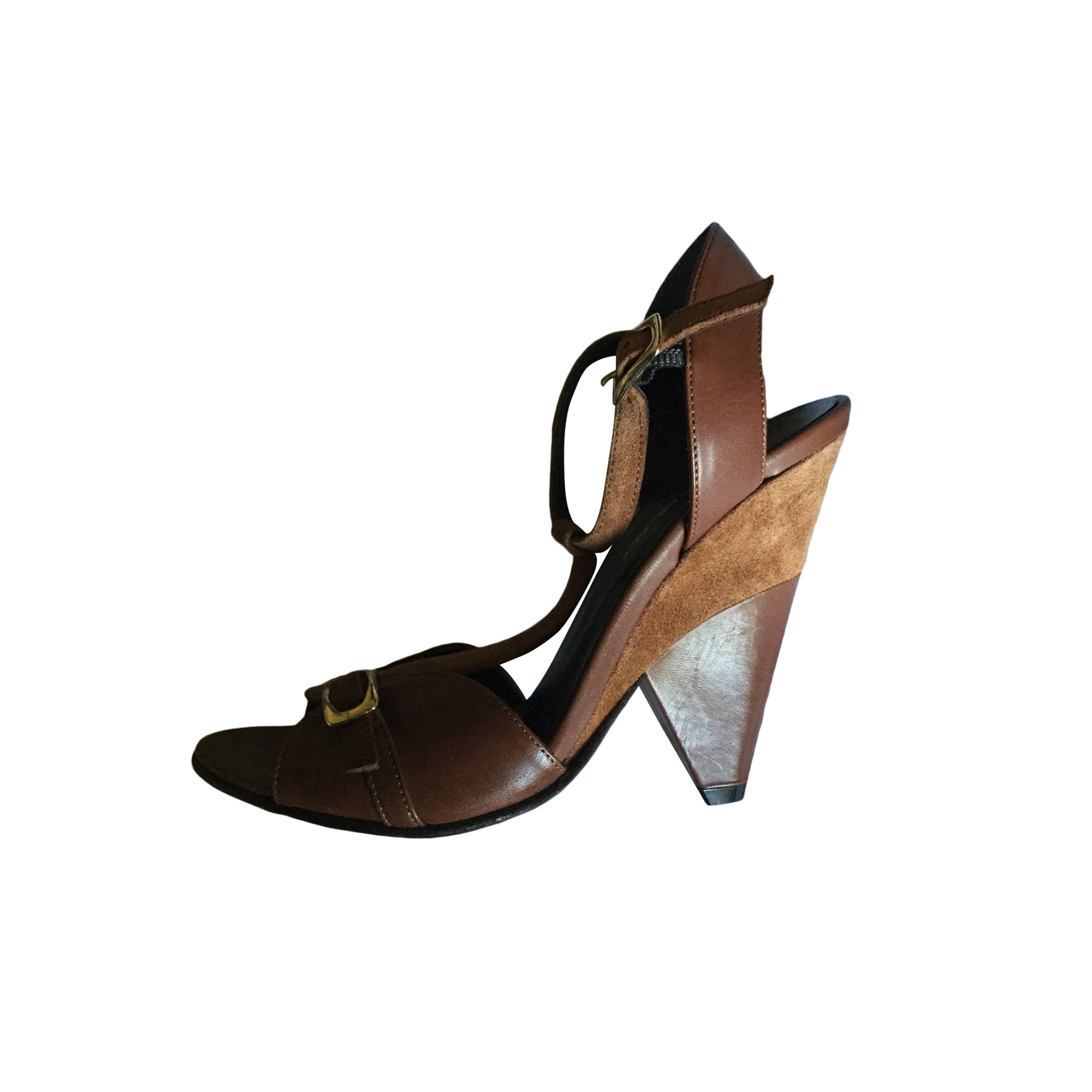 Sandales compensées PENNYBLACK Kaki