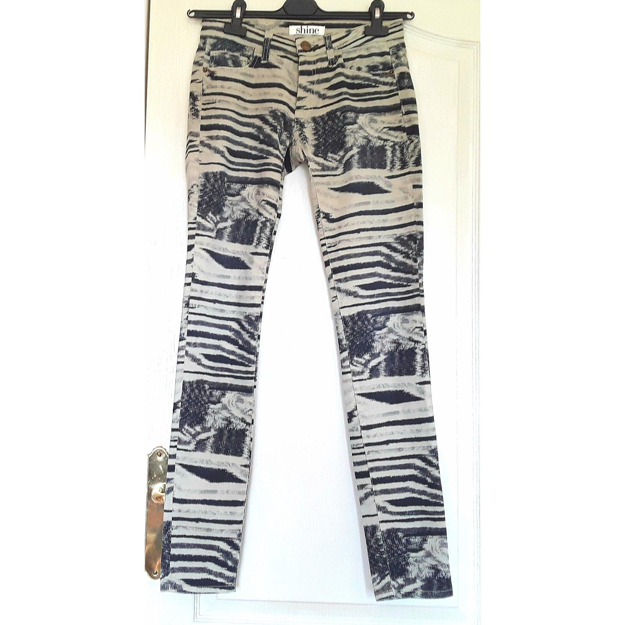 Pantalon slim, cigarette SHINE Multicouleur