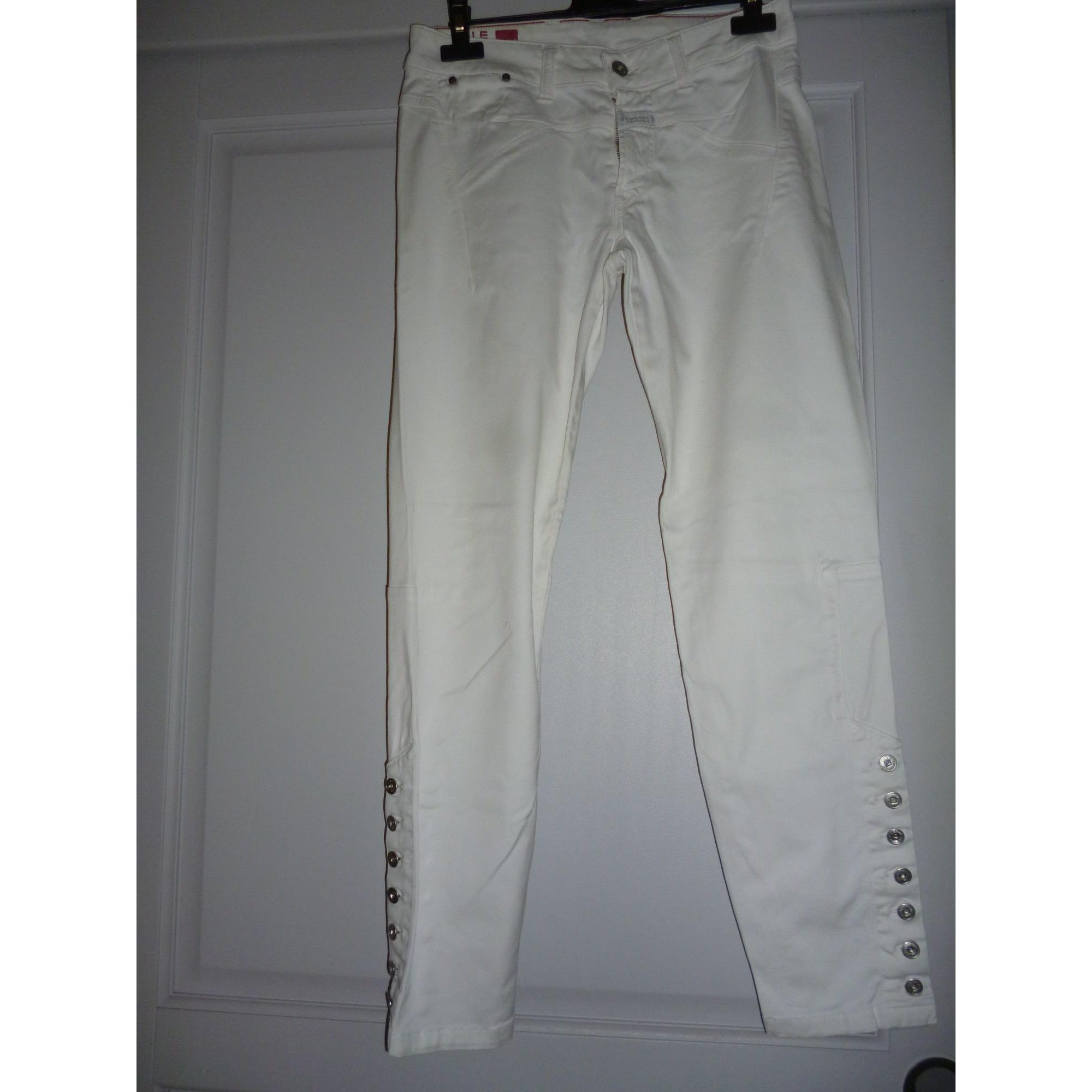 Pantalon slim, cigarette MARITHÉ ET FRANÇOIS GIRBAUD Blanc, blanc cassé, écru