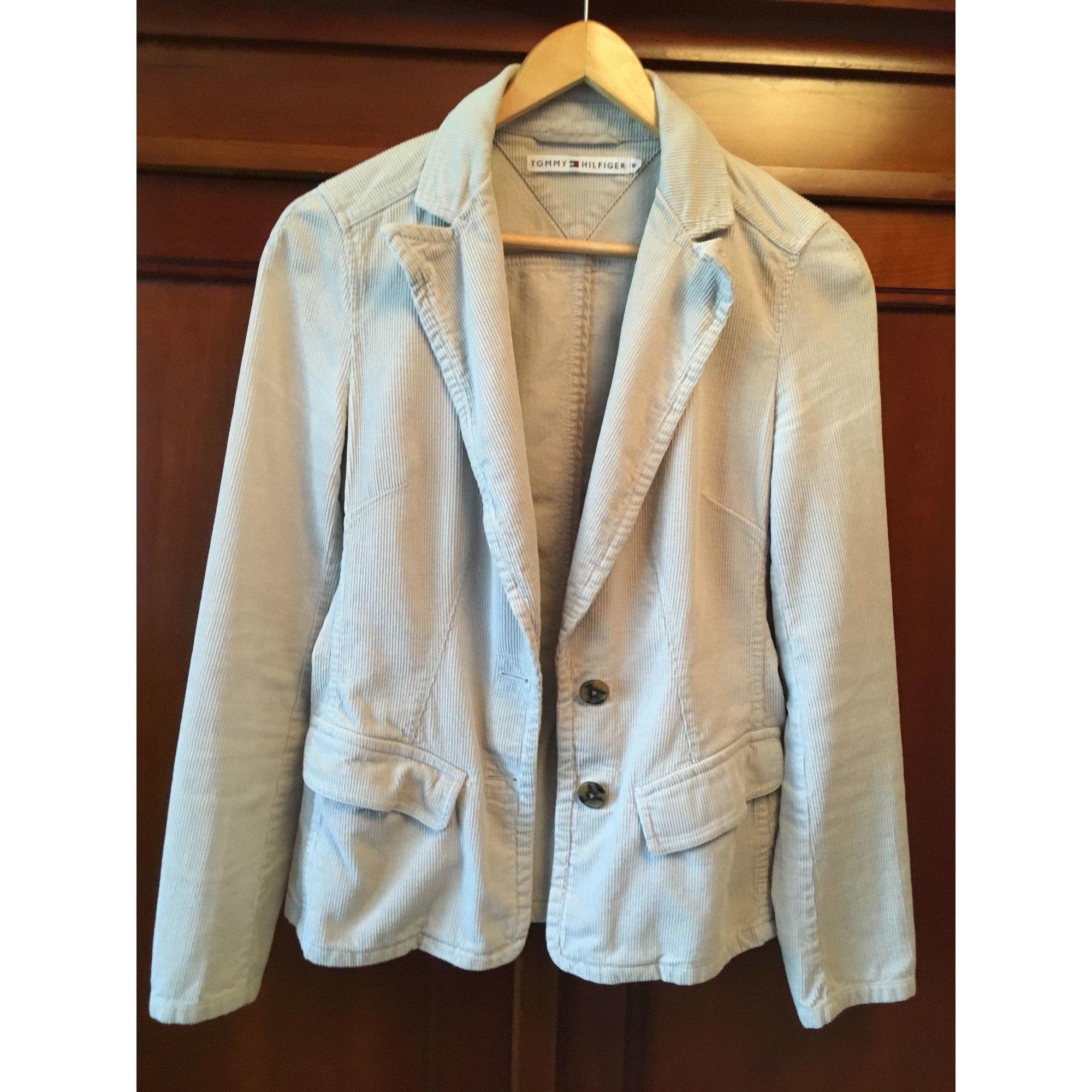Blazer, veste tailleur TOMMY HILFIGER Blanc, blanc cassé, écru