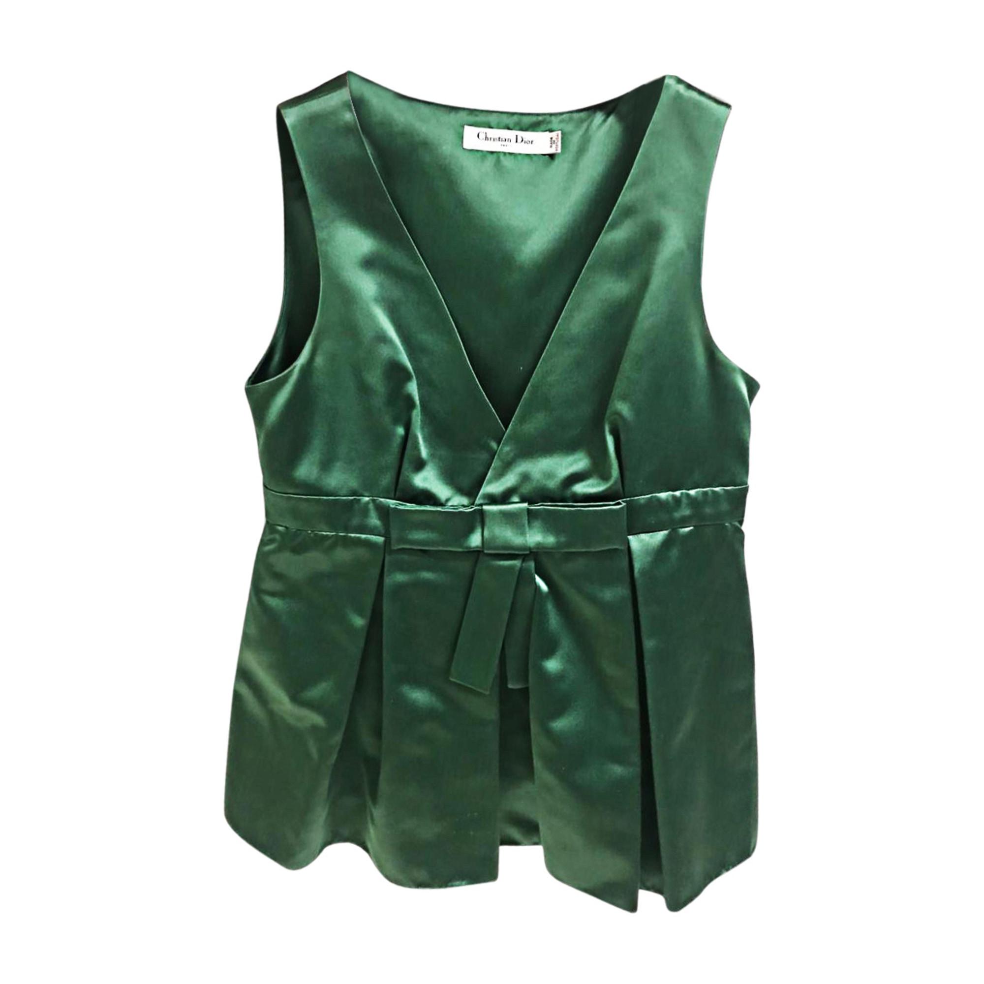 Top, tee-shirt DIOR Vert