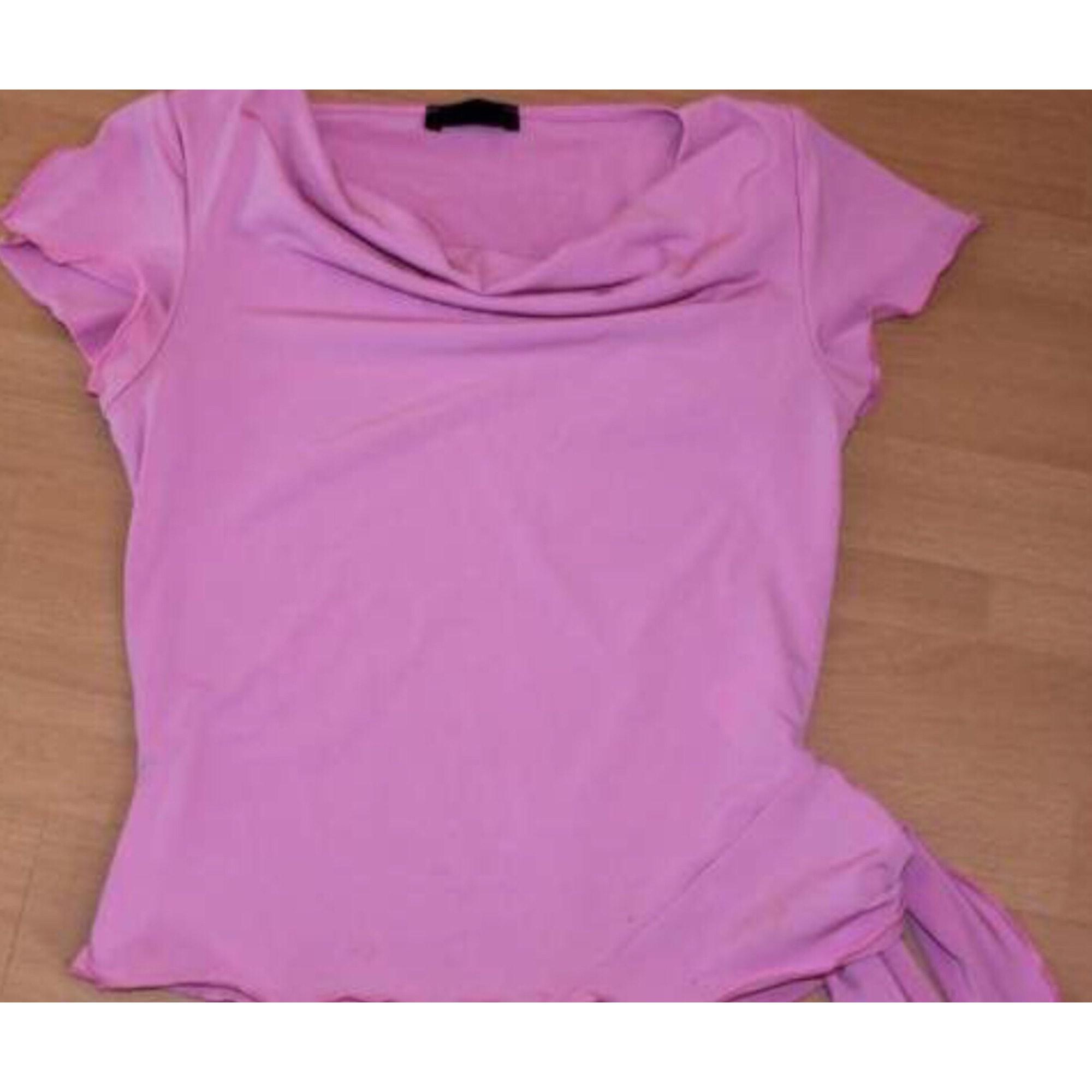 Top, tee-shirt INOÉ TSUHO Rose, fuschia, vieux rose