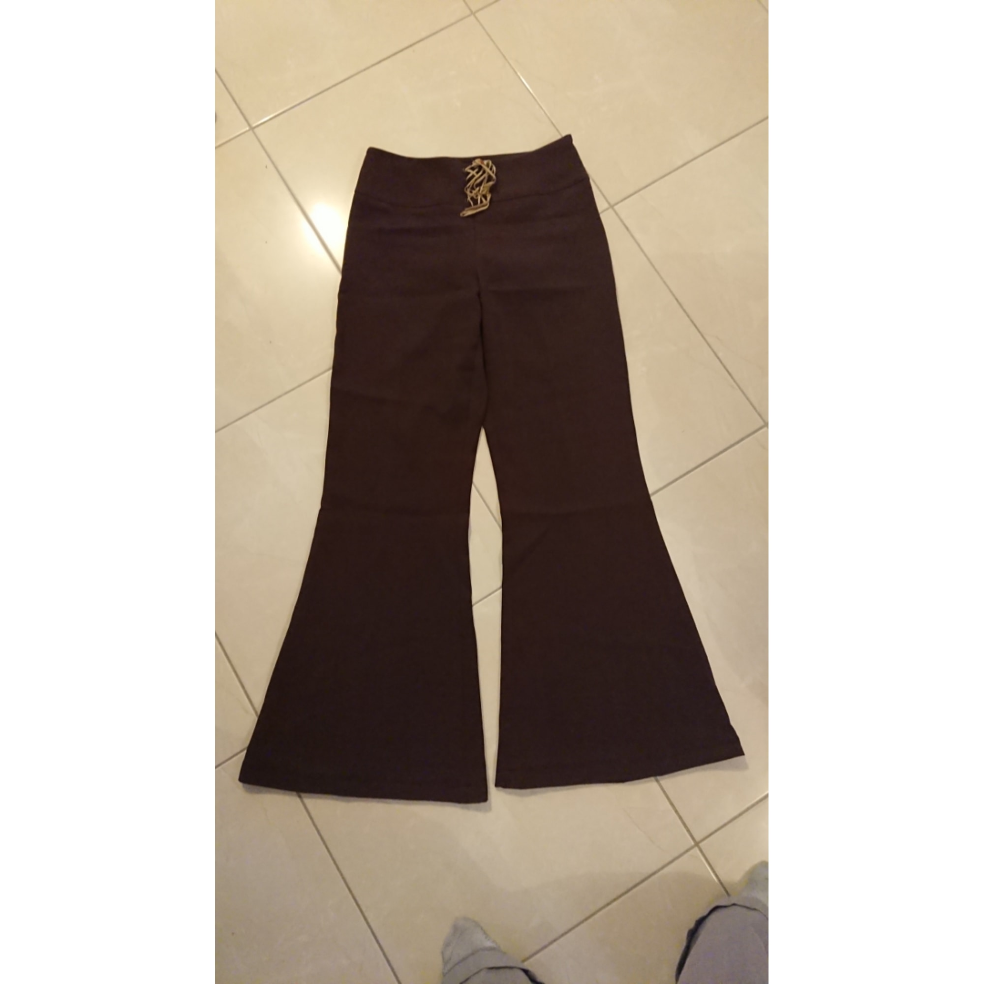 Pantalon évasé LA REDOUTE Marron