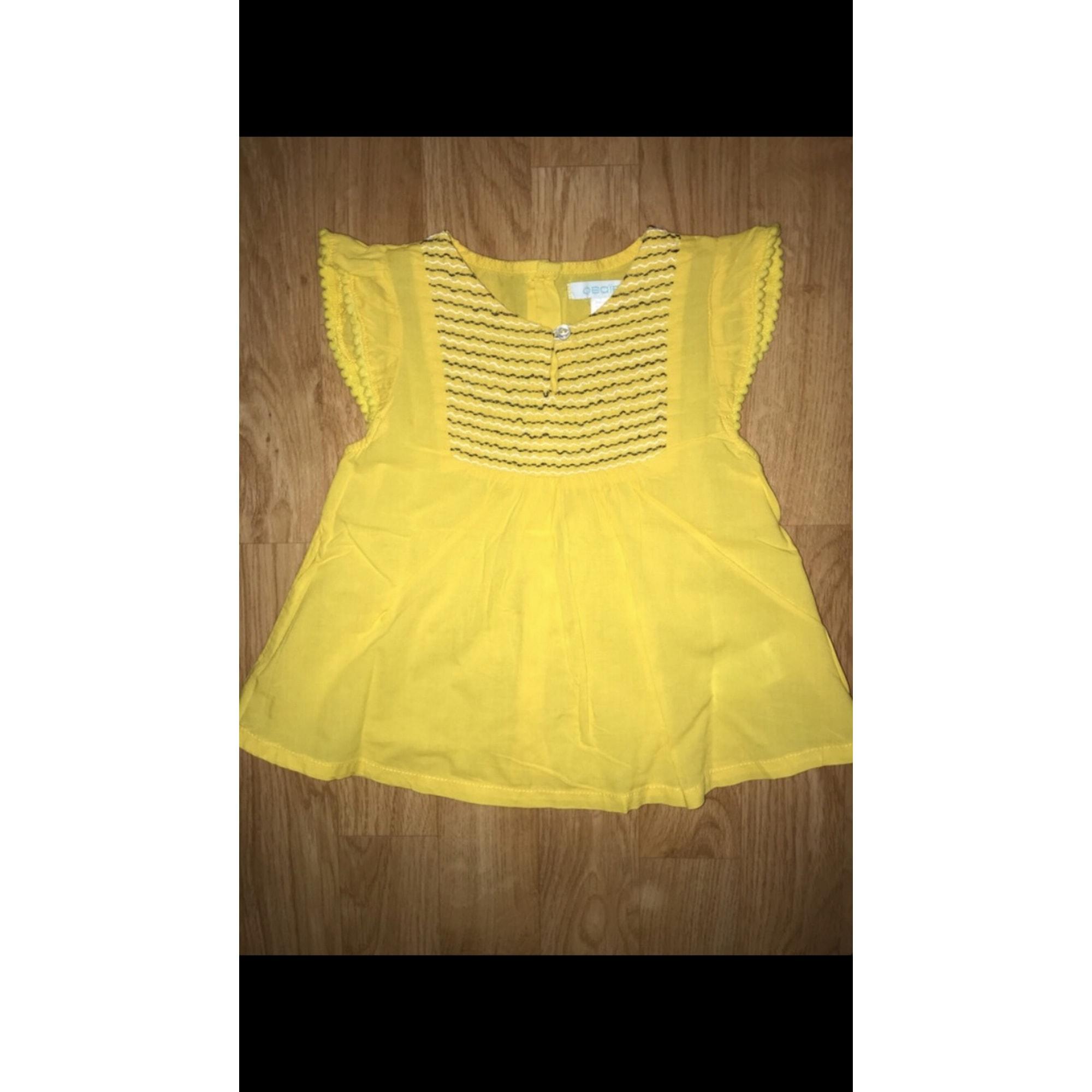 Blouse, Short-sleeved Shirt OBAIBI Yellow