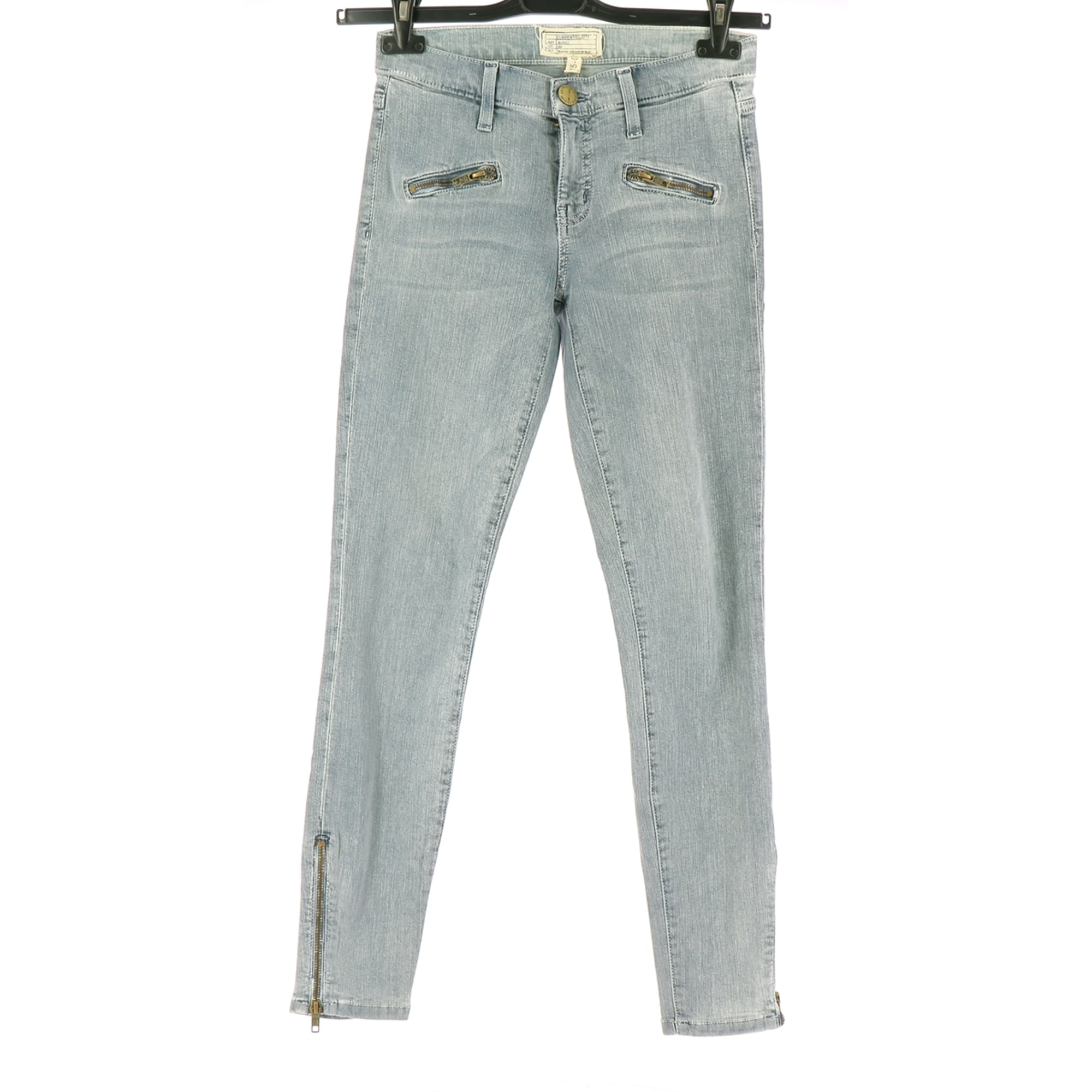 Jeans droit CURRENT/ELLIOTT Gris, anthracite