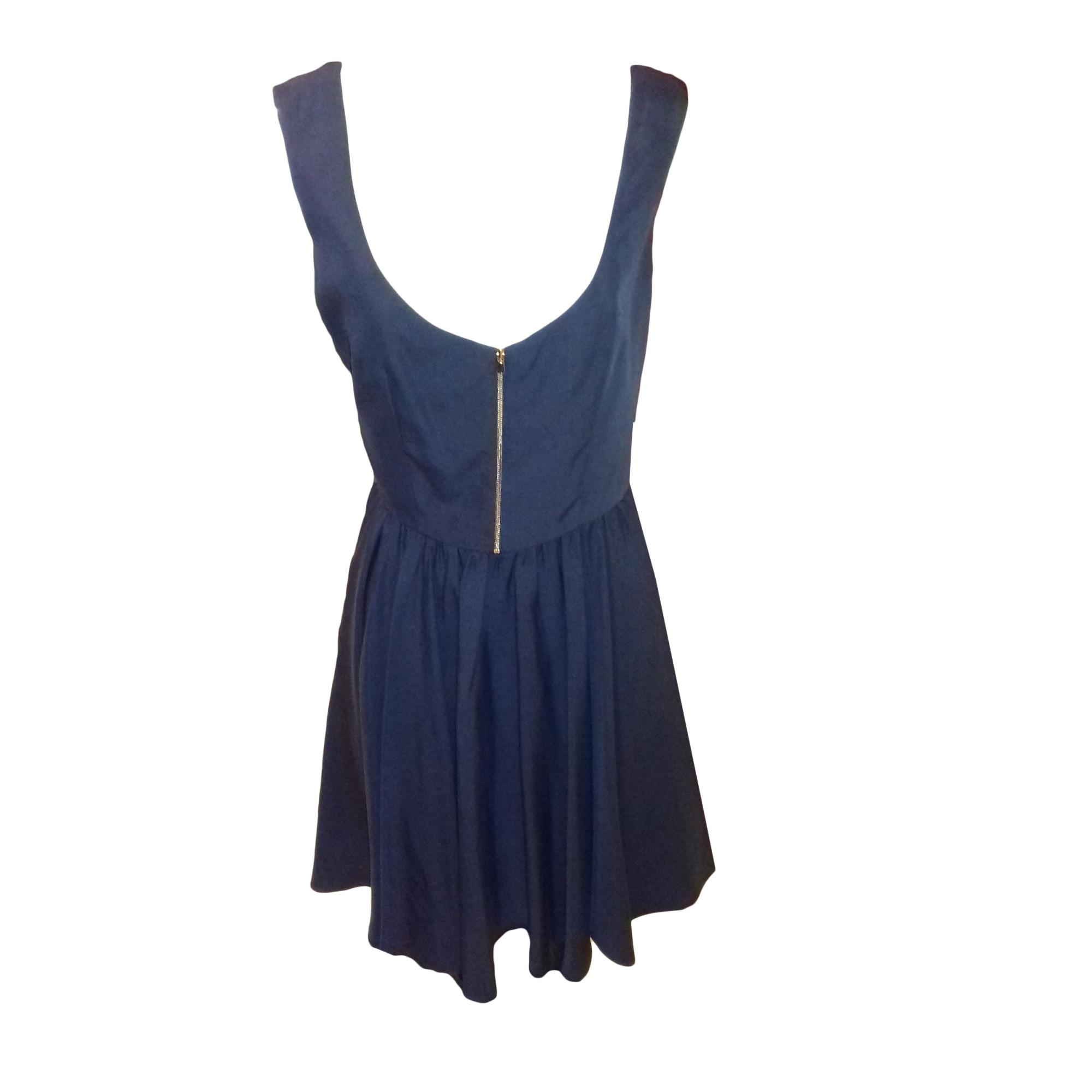 Robe Mi Longue Tara Jarmon 42 L Xl T4 Bleu 8996989