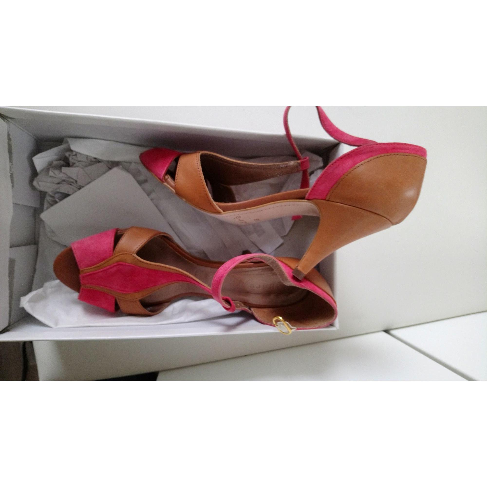 Sandales à talons ANDRÉ Rose, fuschia, vieux rose
