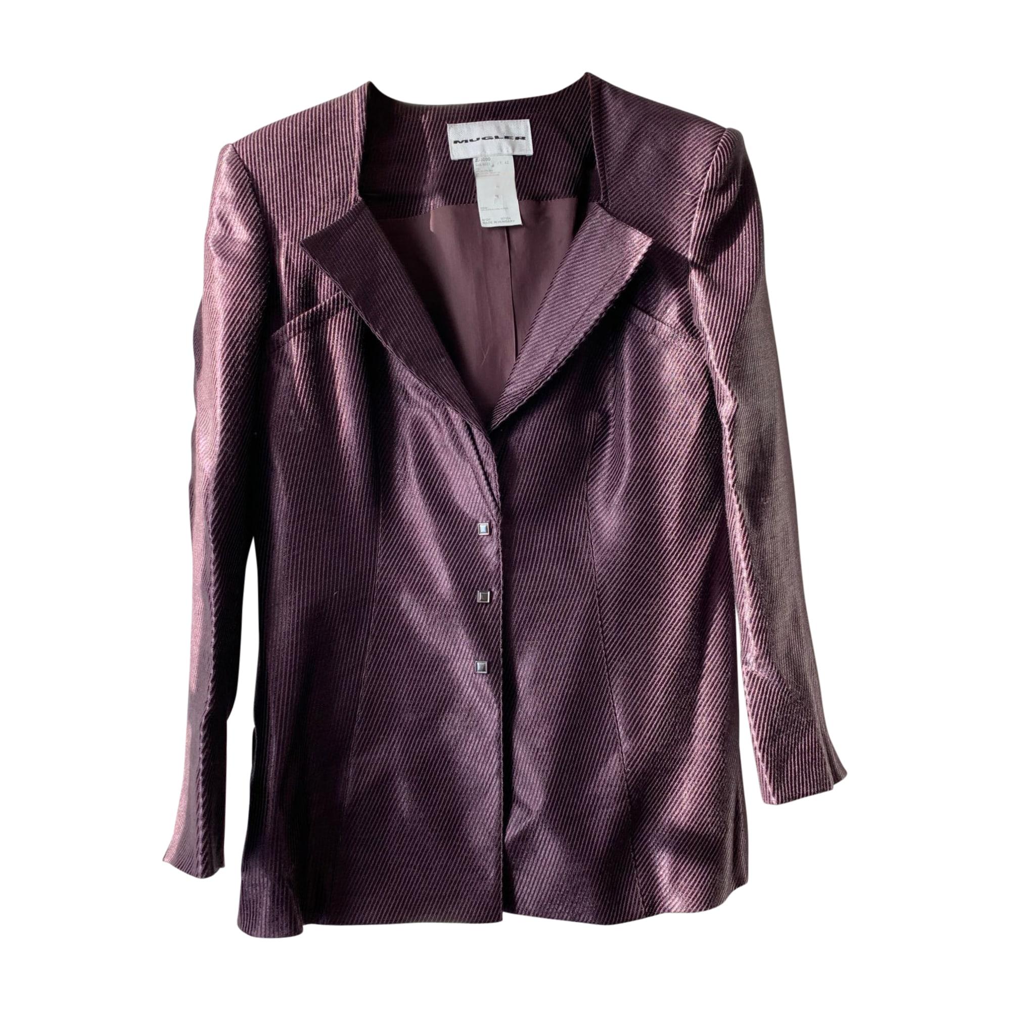 Blazer, veste tailleur THIERRY MUGLER Violet, mauve, lavande
