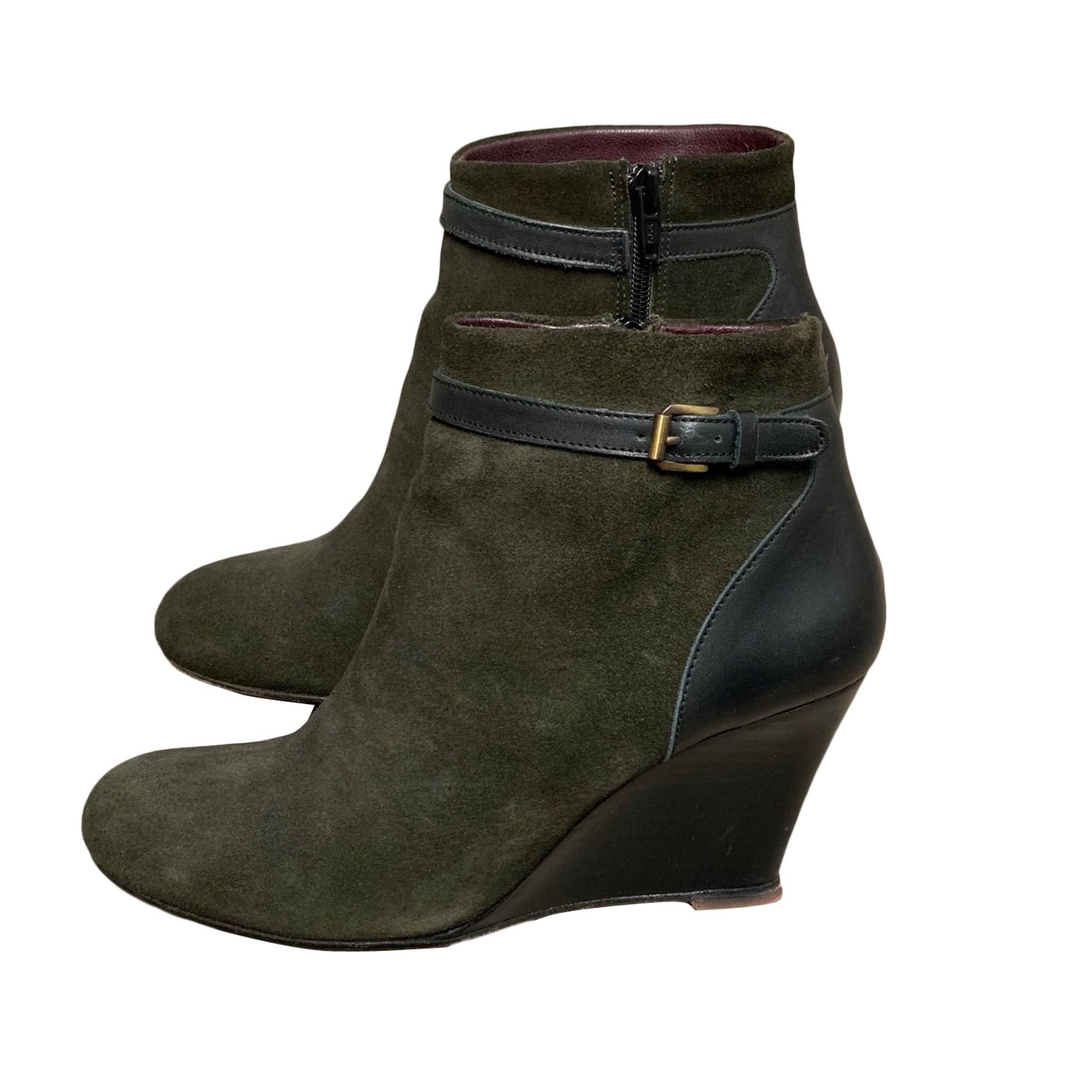 High Heel Ankle Boots GERARD DAREL Khaki
