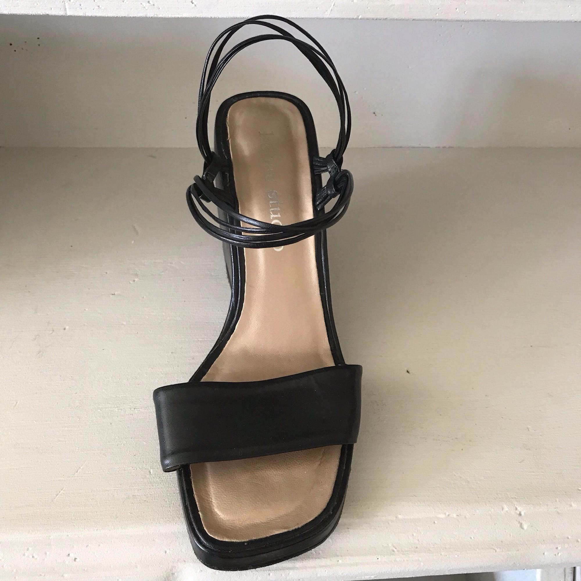 Sandales compensées KELIAN Noir