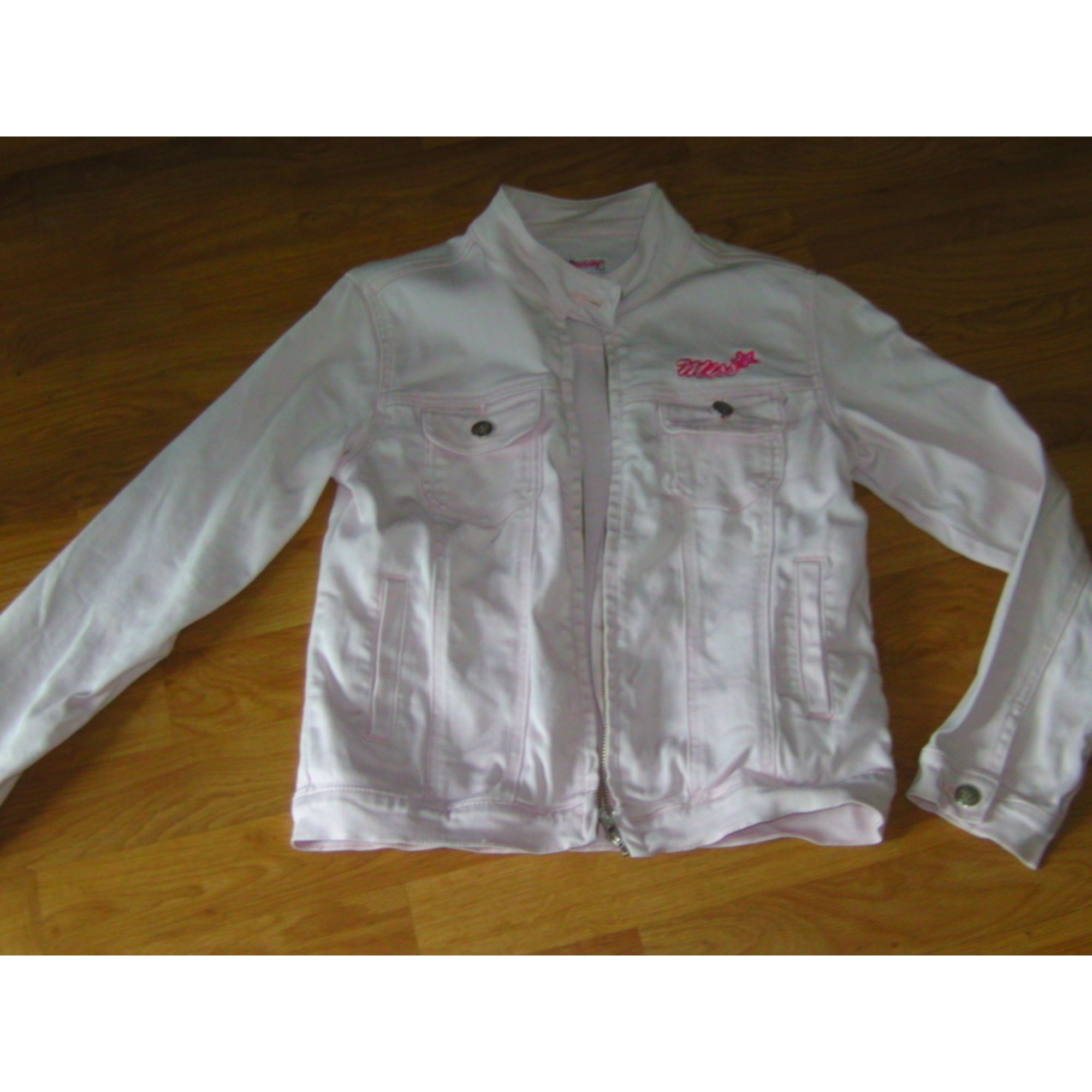 Veste en jean KISS MELODY Rose, fuschia, vieux rose
