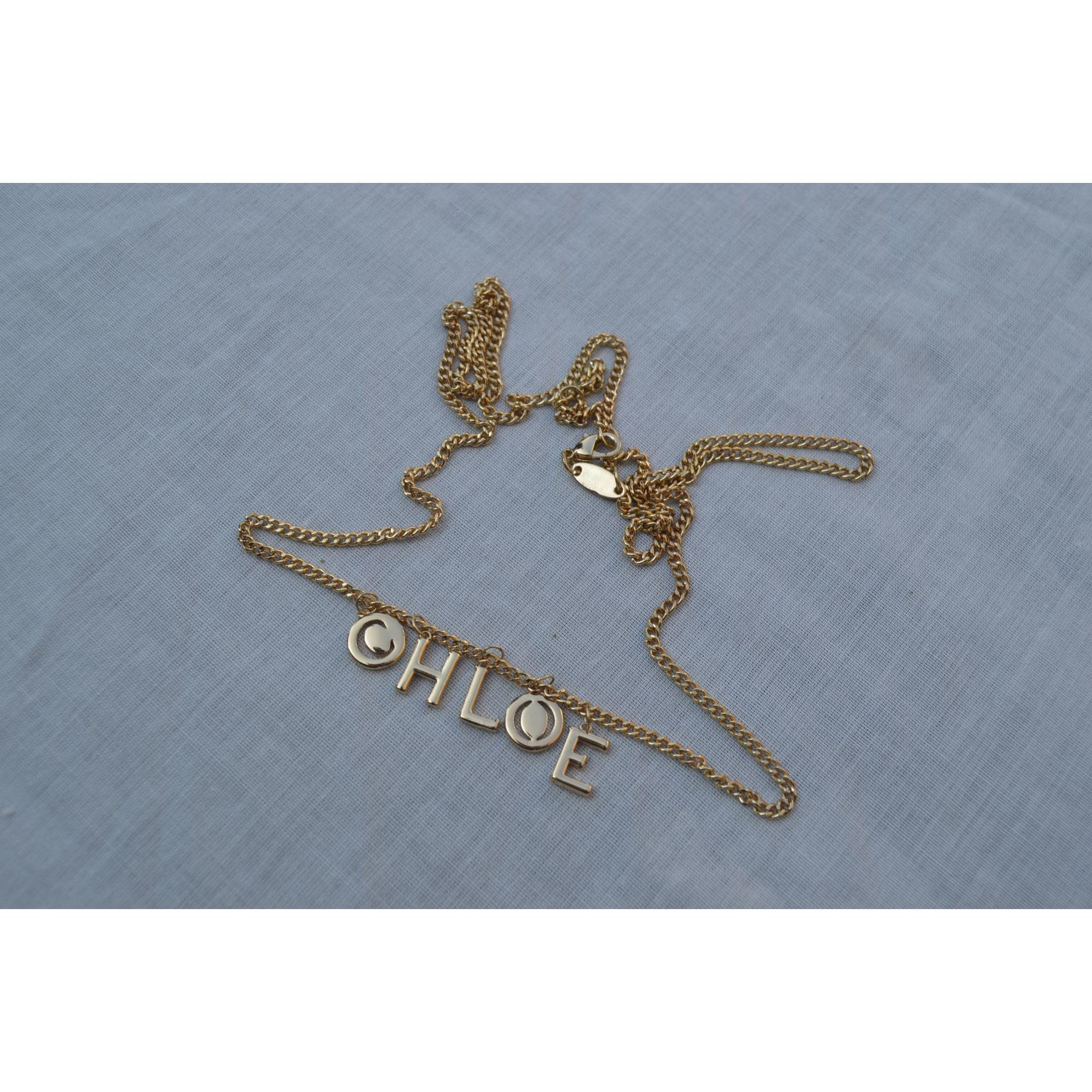 Collier CHLOÉ Doré, bronze, cuivre