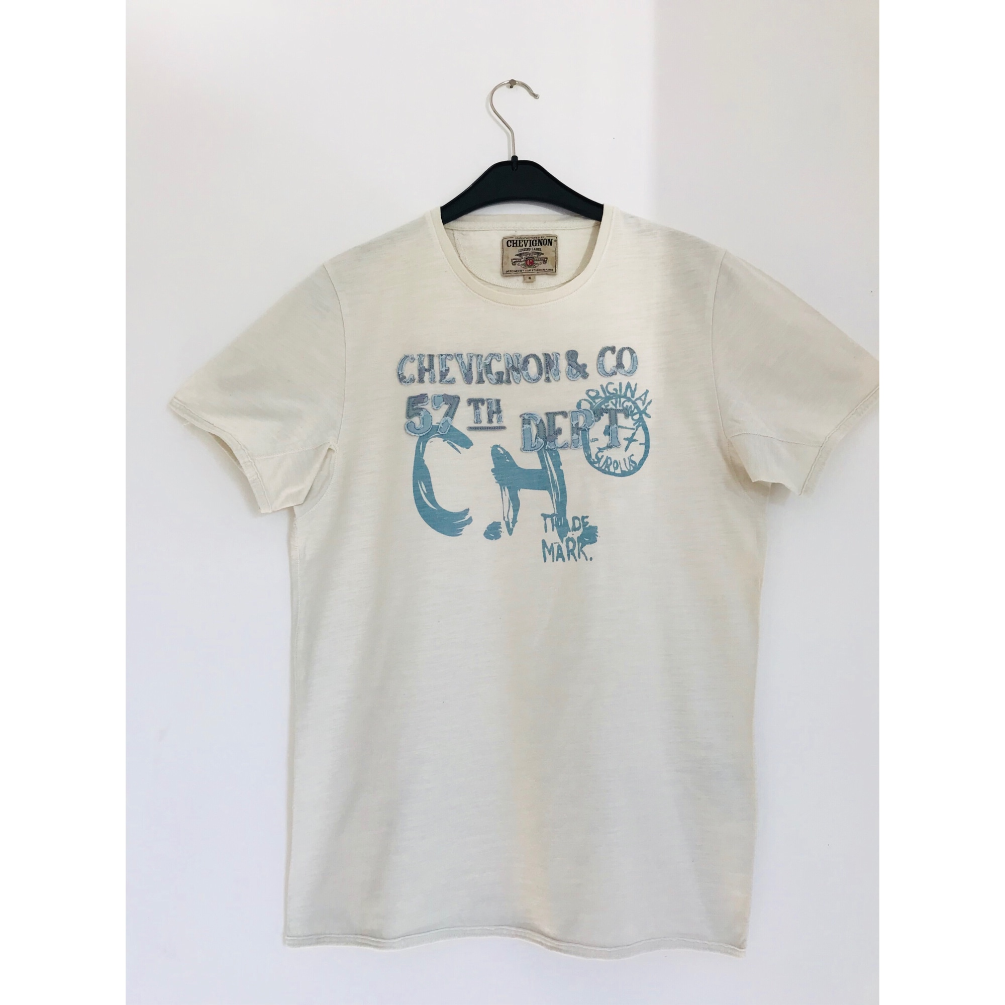 T-shirt CHEVIGNON White, off-white, ecru