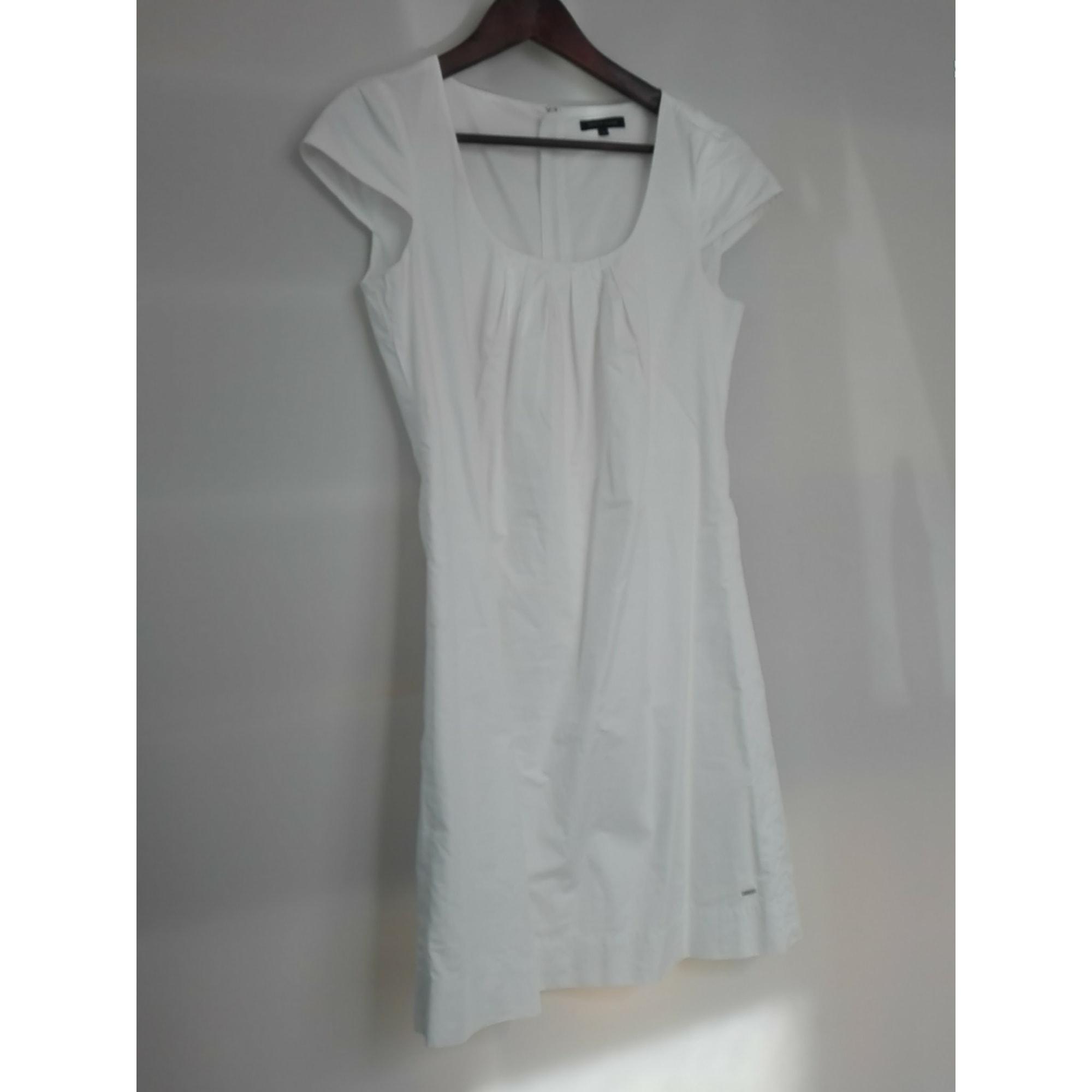 Robe courte TOMMY HILFIGER Blanc, blanc cassé, écru