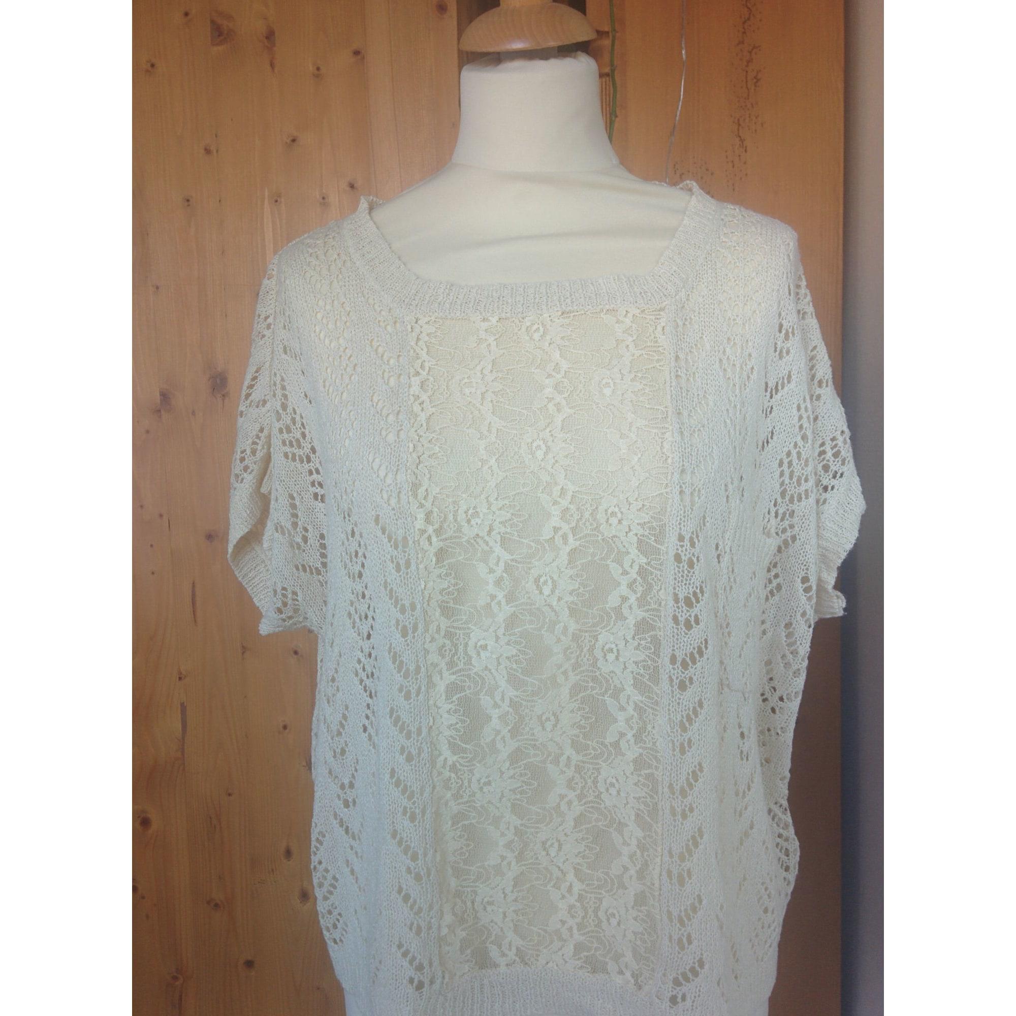 Top, tee-shirt RENÉ DERHY Blanc, blanc cassé, écru