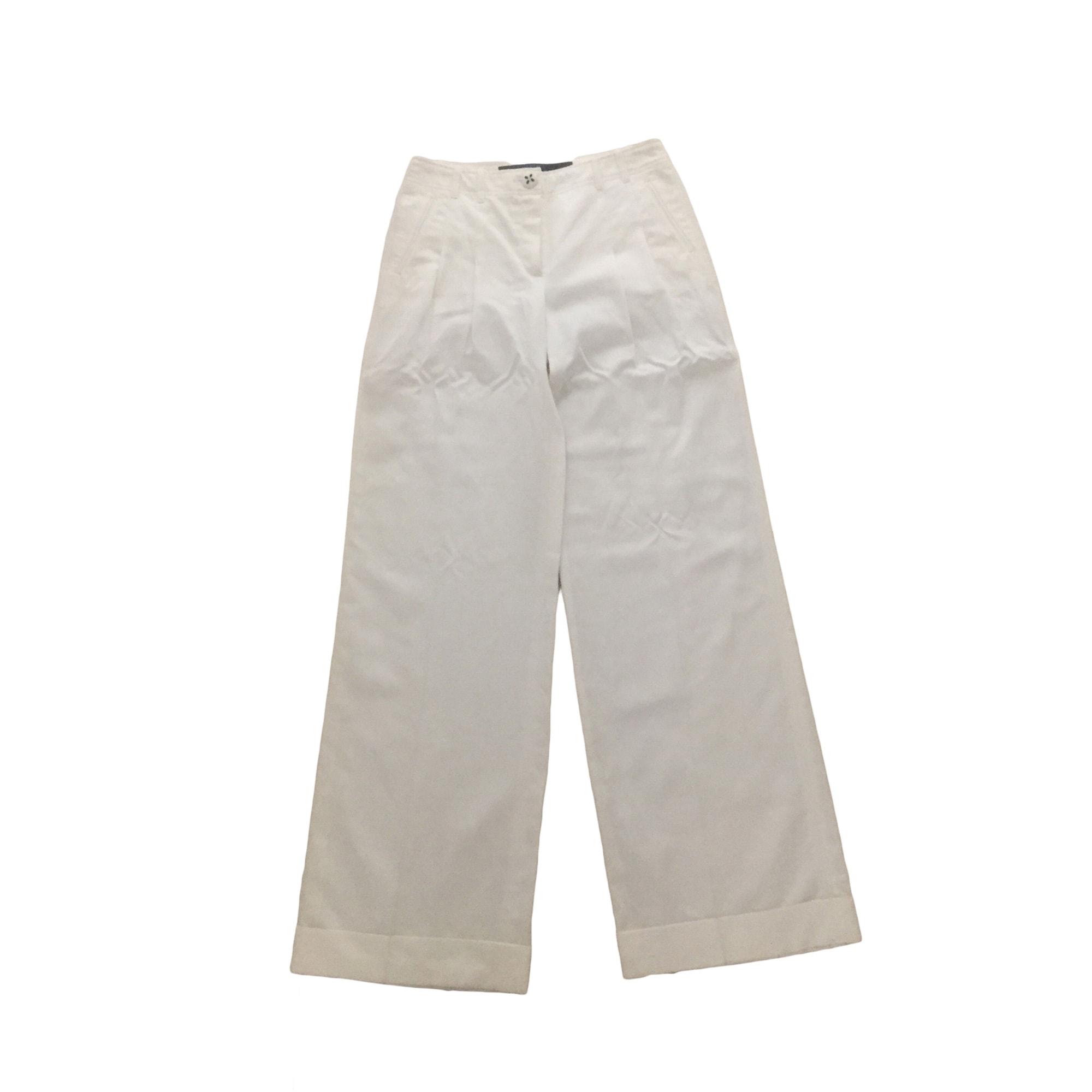 Pantalon large ESCADA Blanc, blanc cassé, écru