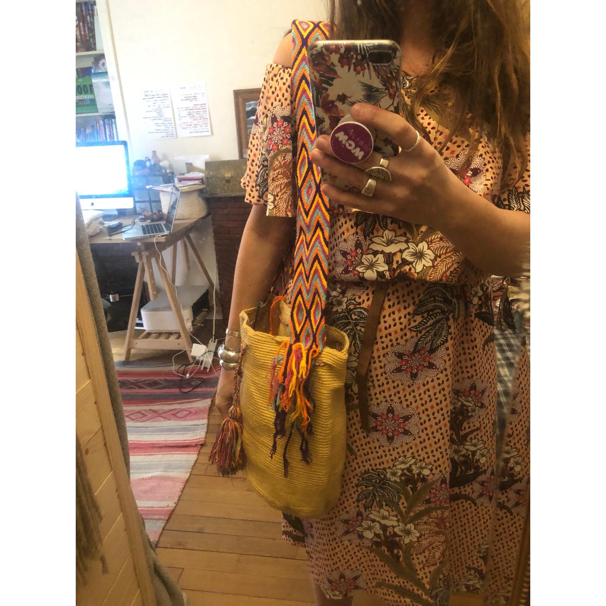 Sac en bandoulière en tissu MOCHILA Beige, camel