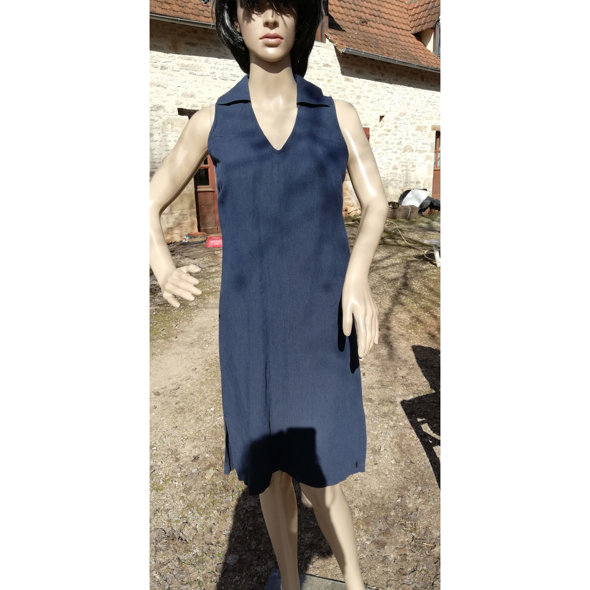 Robe mi-longue DIPLODOCUS Bleu, bleu marine, bleu turquoise