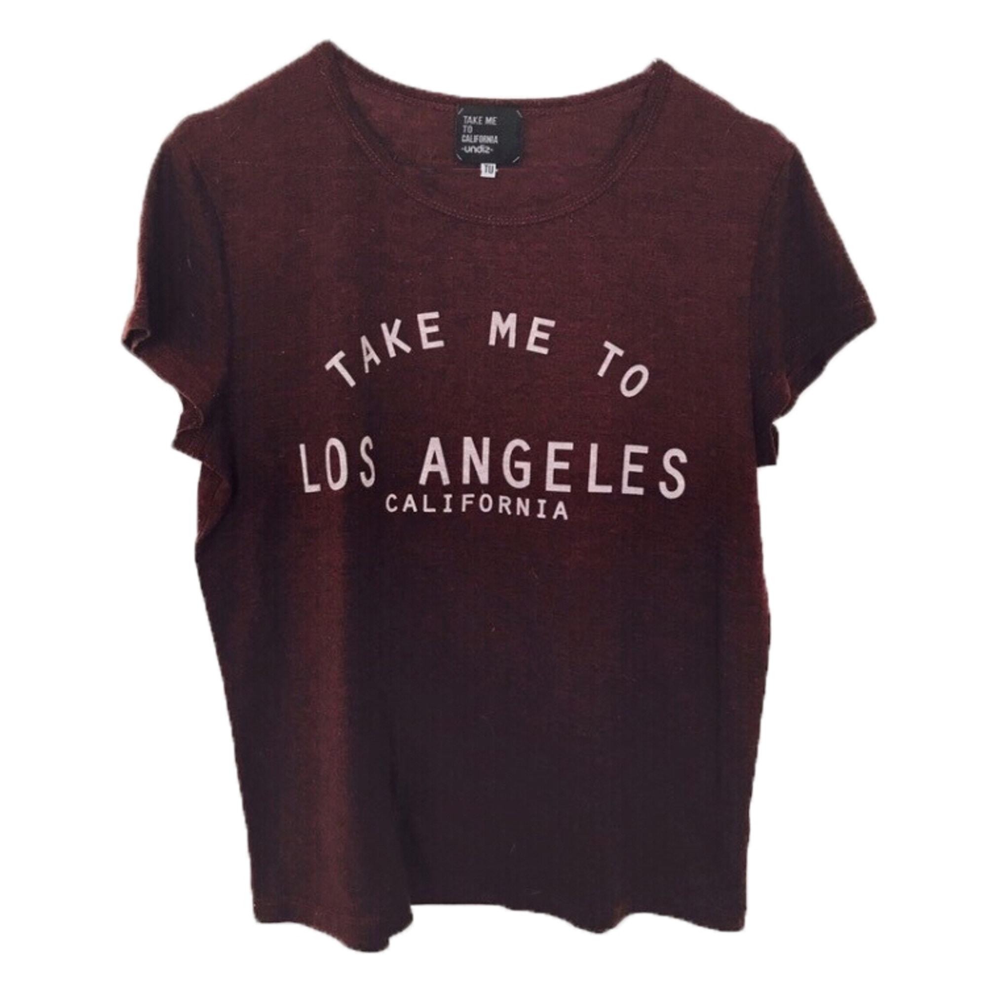 Top, tee-shirt UNDIZ Rouge, bordeaux