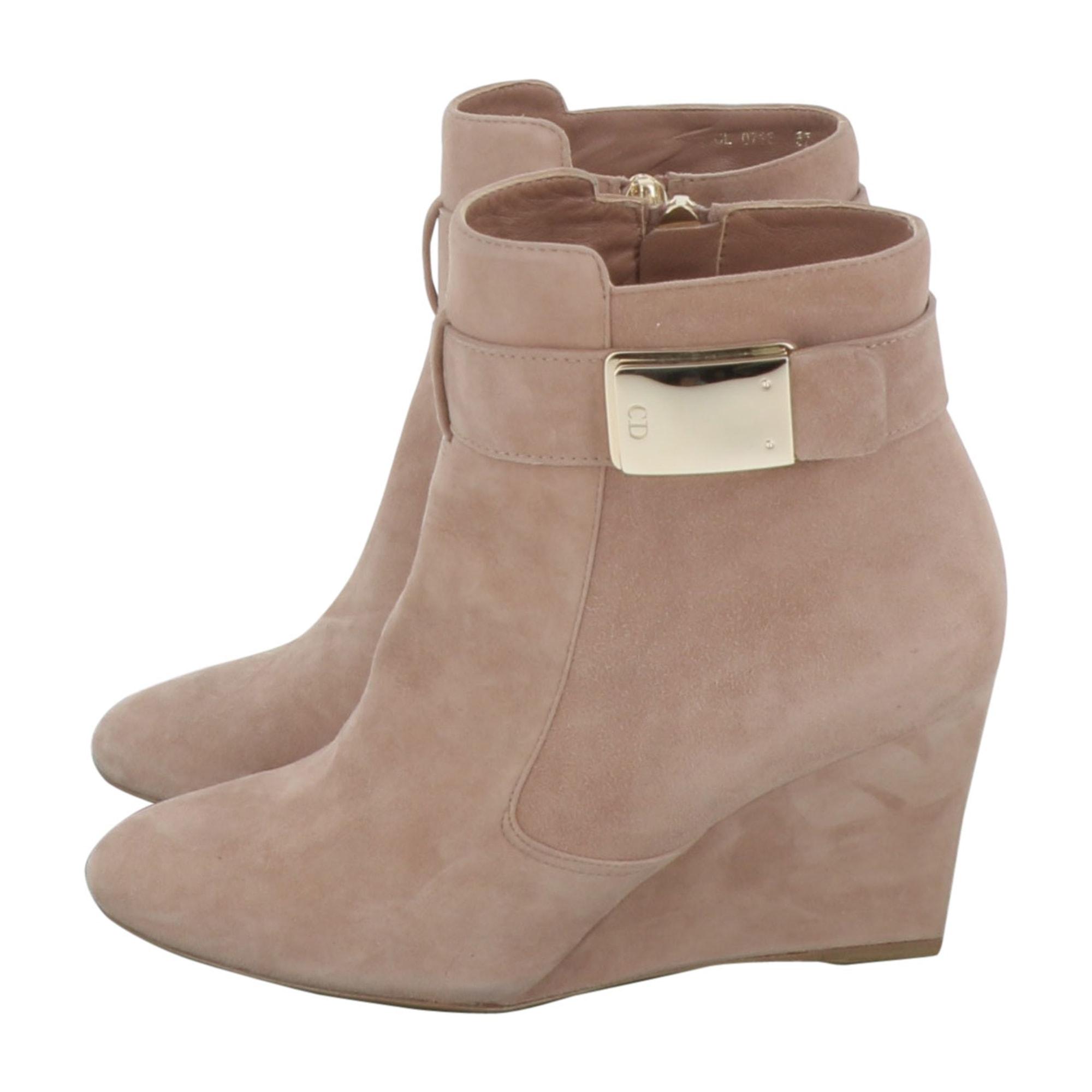Bottines & low boots à compensés DIOR Rose, fuschia, vieux rose