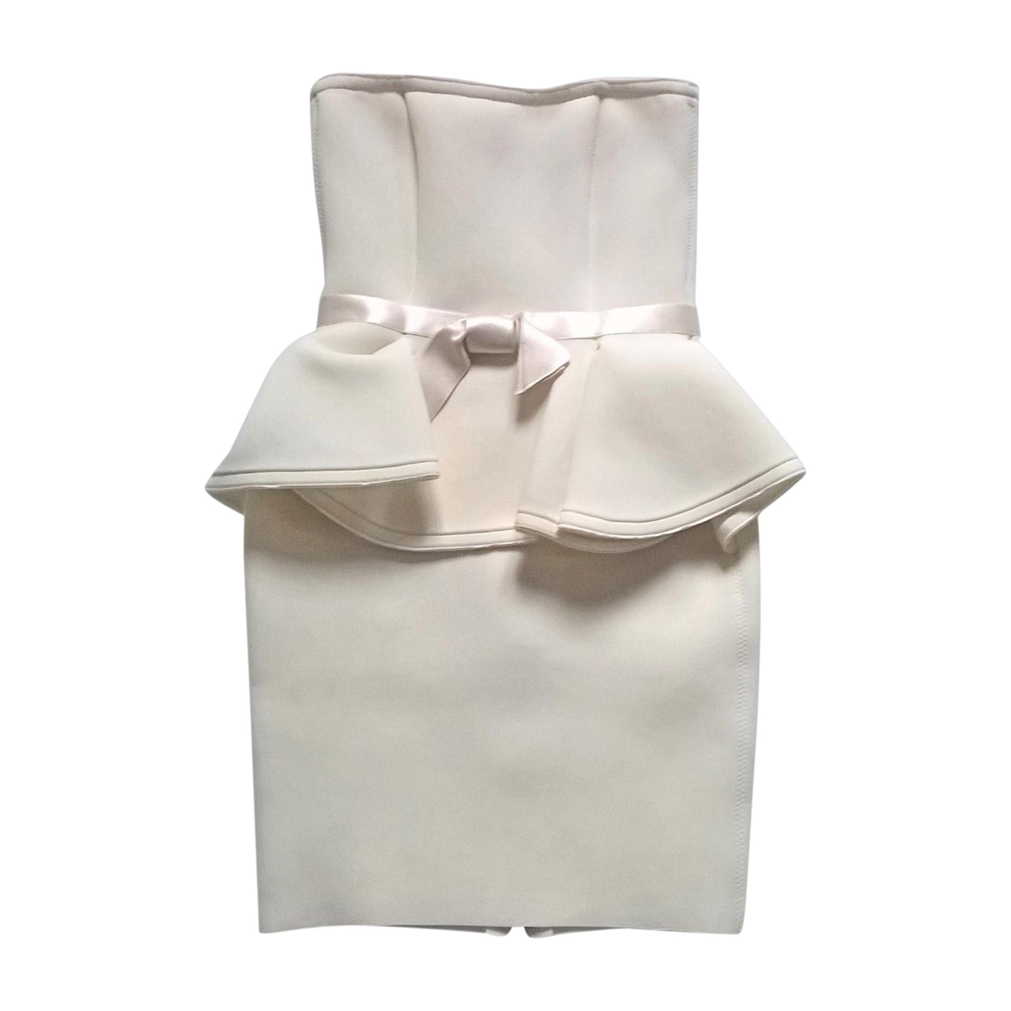Robe mi-longue LANVIN Blanc, blanc cassé, écru