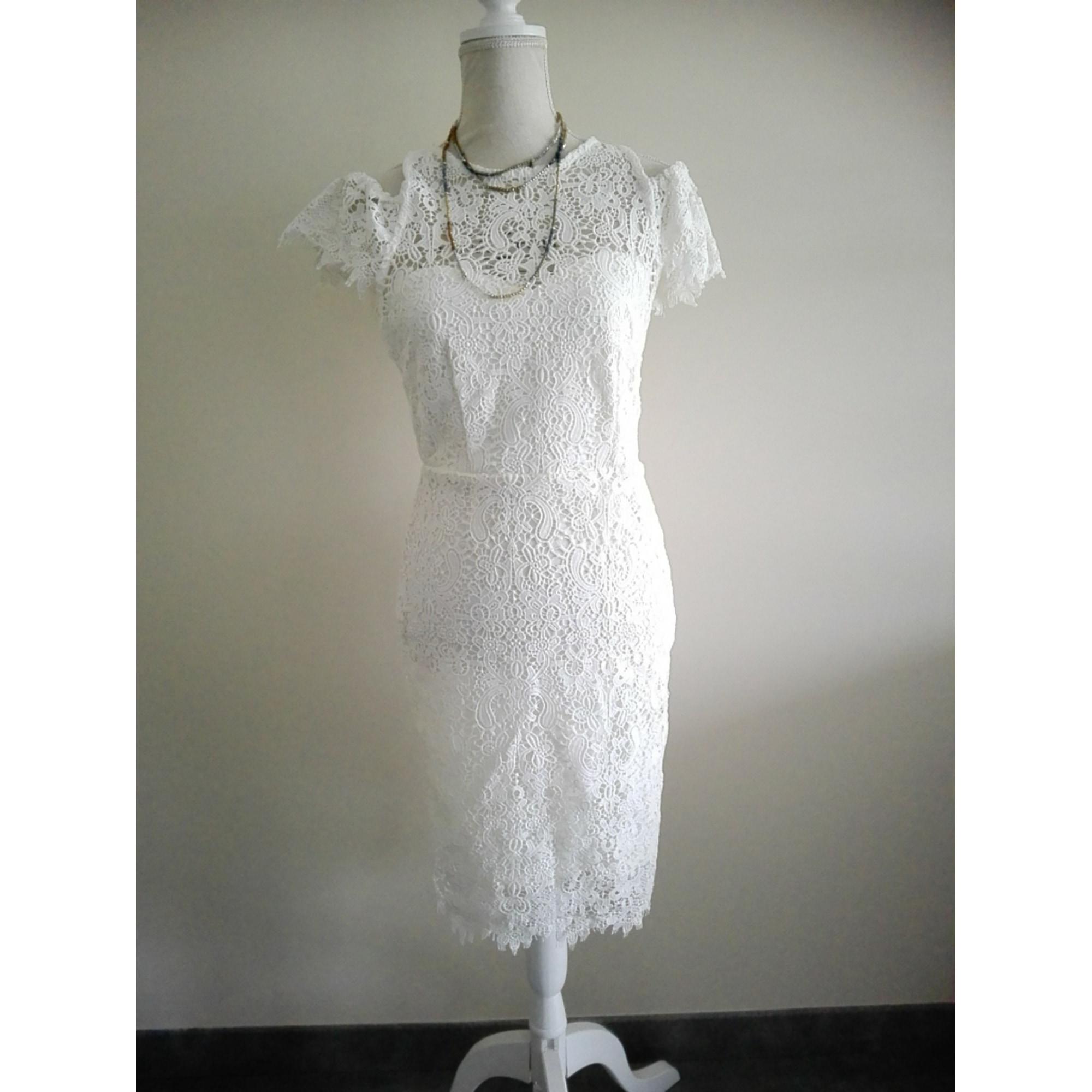 Robe mi-longue PETITE PAPER DOLLS Blanc, blanc cassé, écru