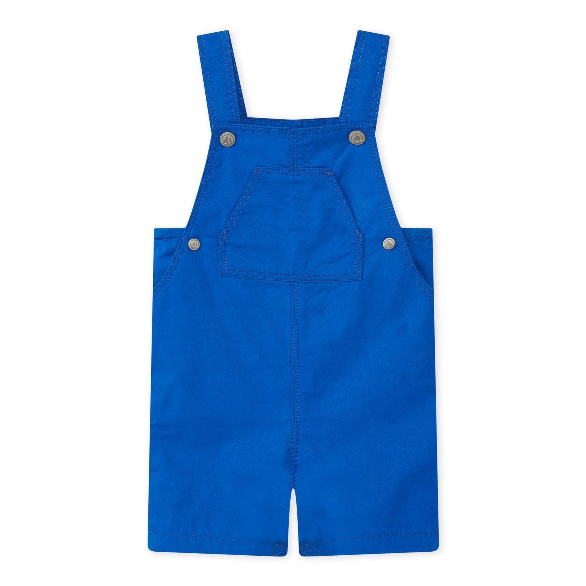 Salopette short PETIT BATEAU Bleu, bleu marine, bleu turquoise