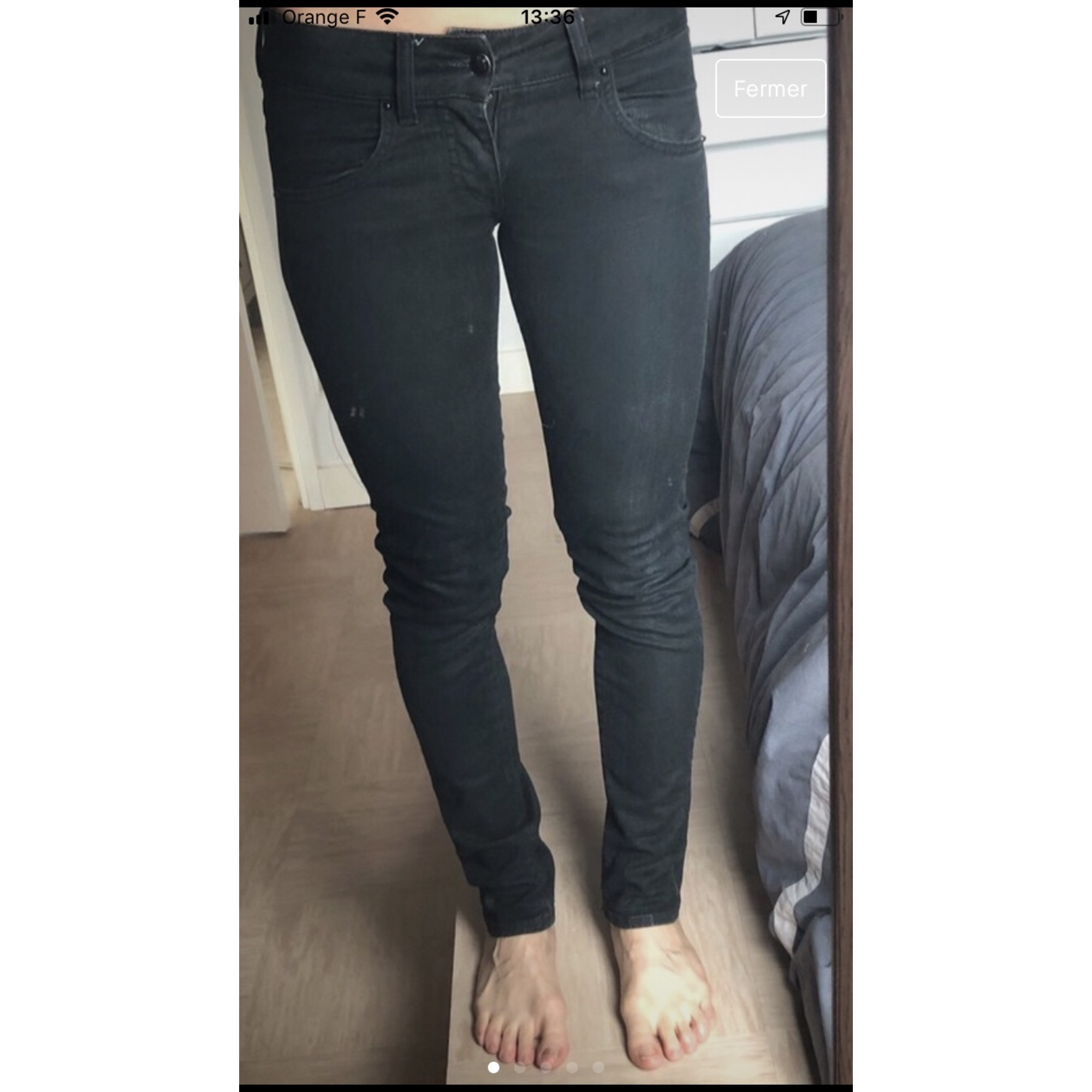 Jeans slim MET Gris, anthracite