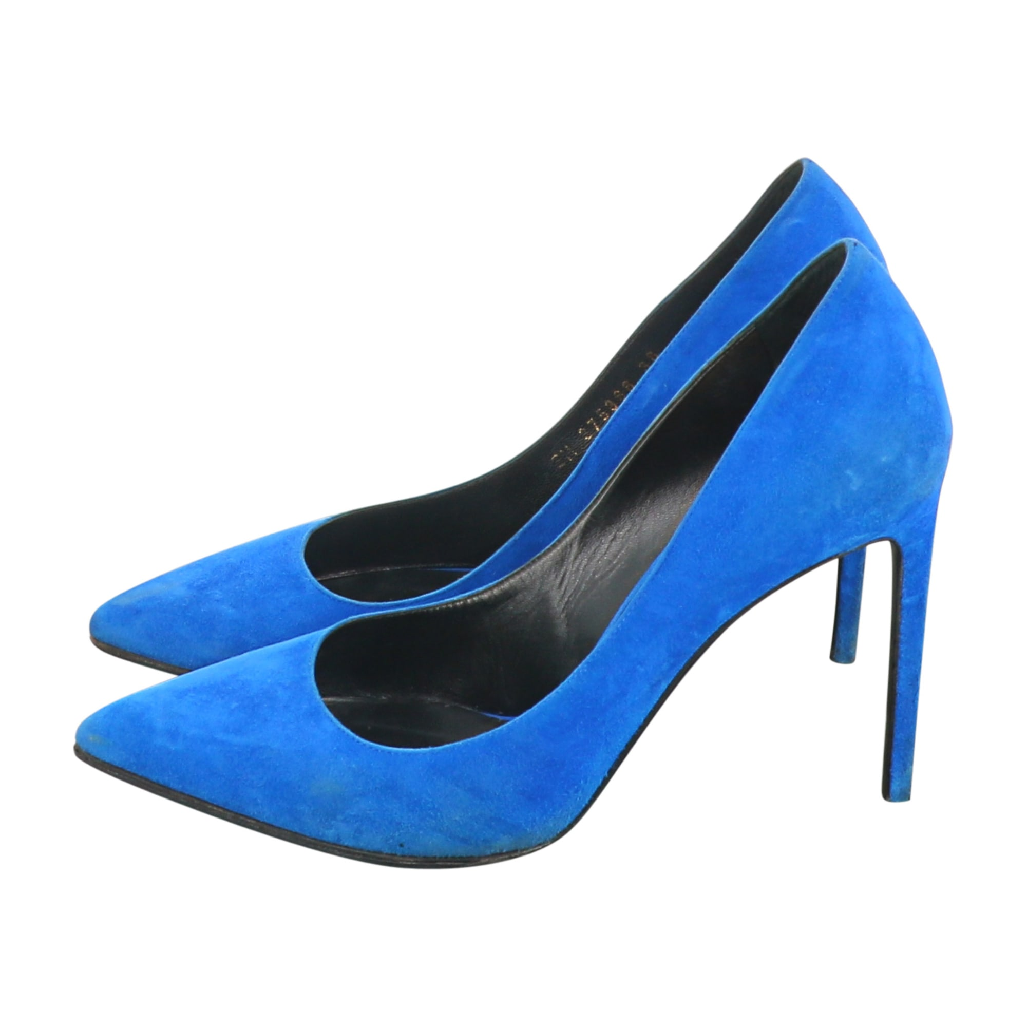 Pumps, Heels SAINT LAURENT Blue, navy, turquoise