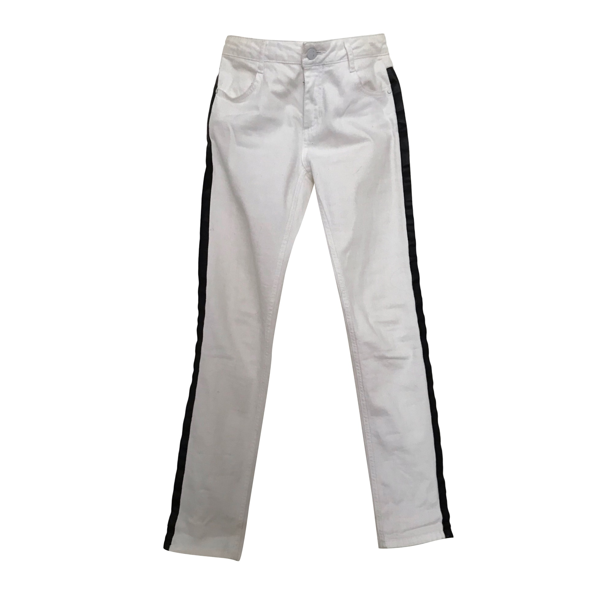 Pantalon slim, cigarette CLAUDIE PIERLOT Blanc, blanc cassé, écru