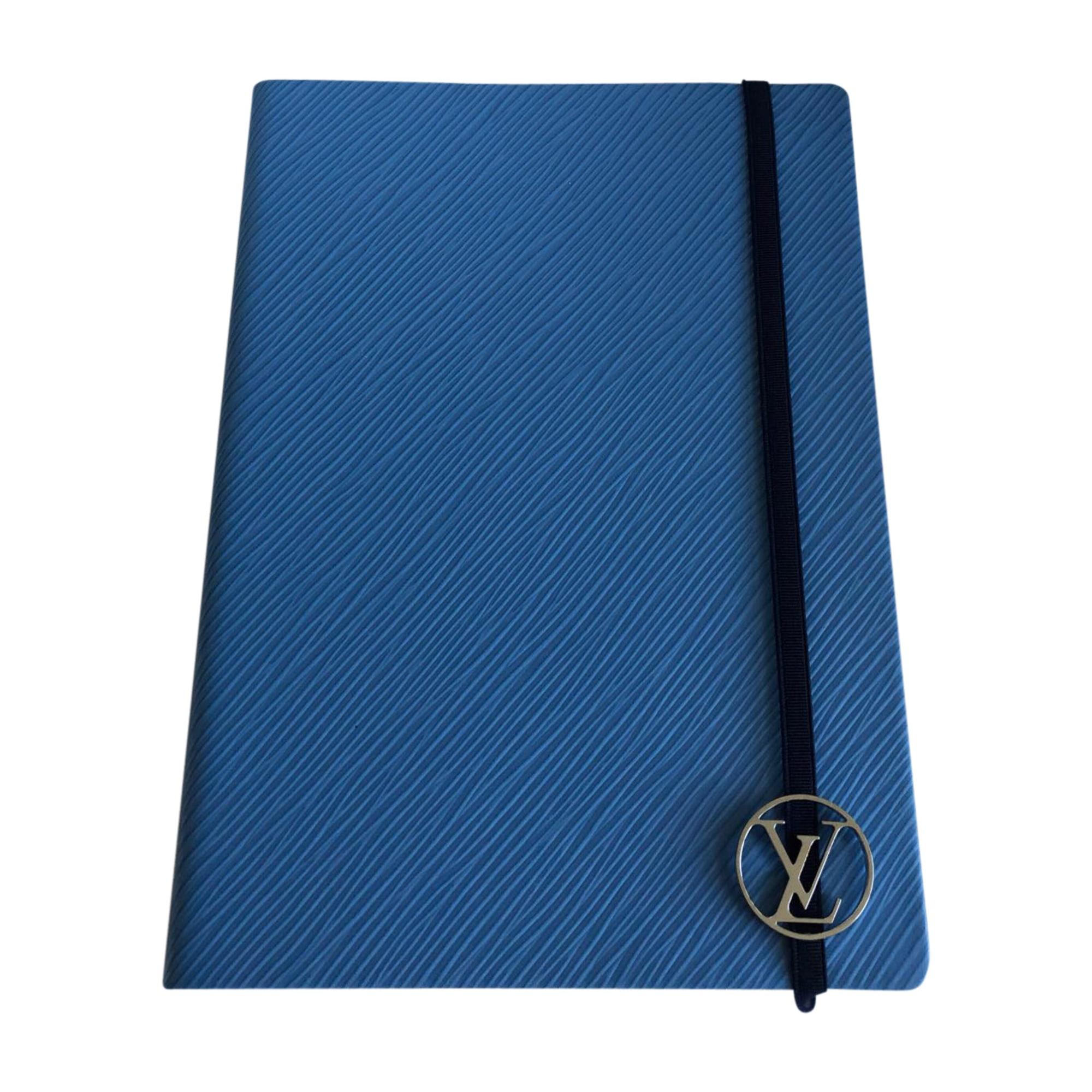 Porte documents, serviette LOUIS VUITTON Bleu, bleu marine, bleu turquoise