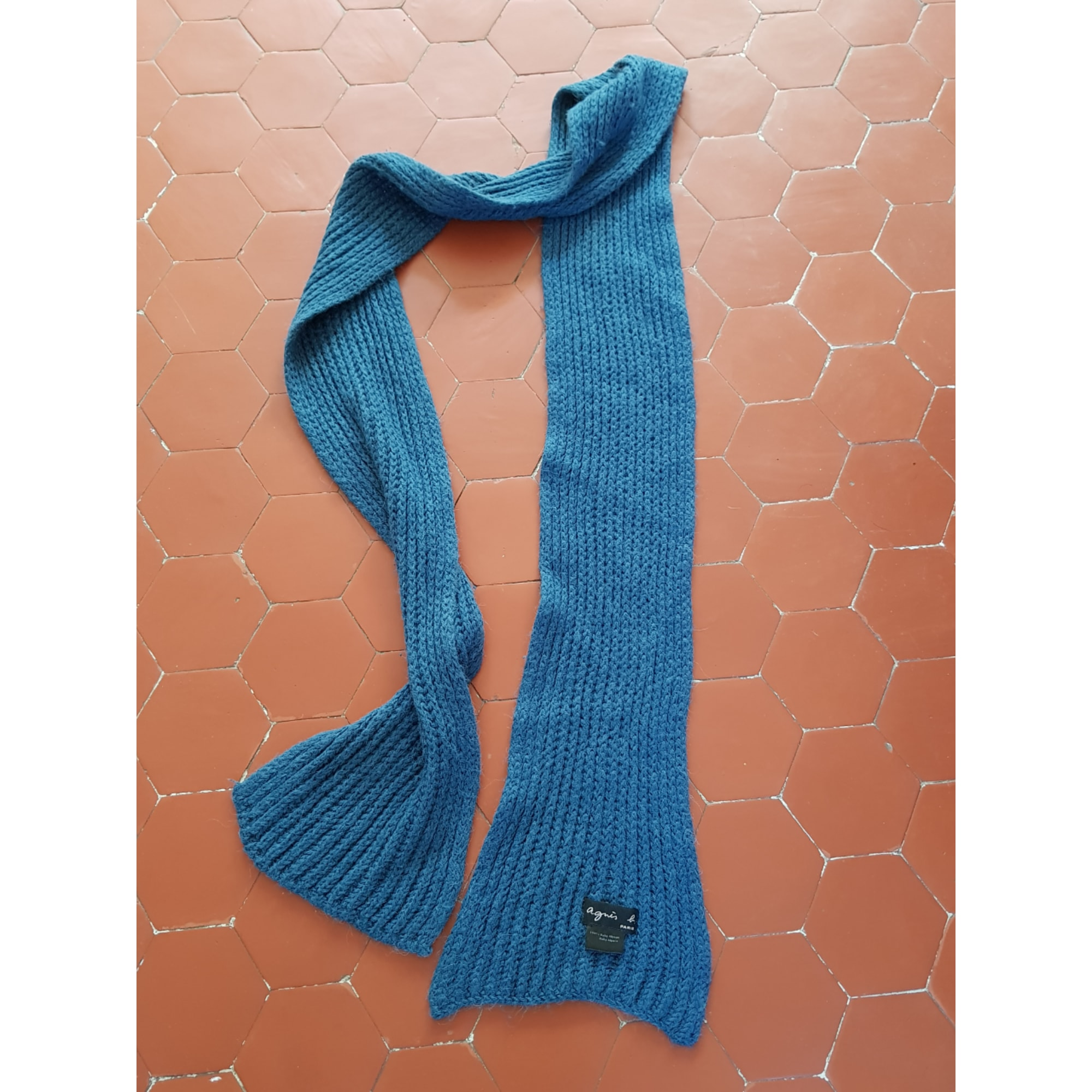 Echarpe AGNÈS B. Bleu, bleu marine, bleu turquoise