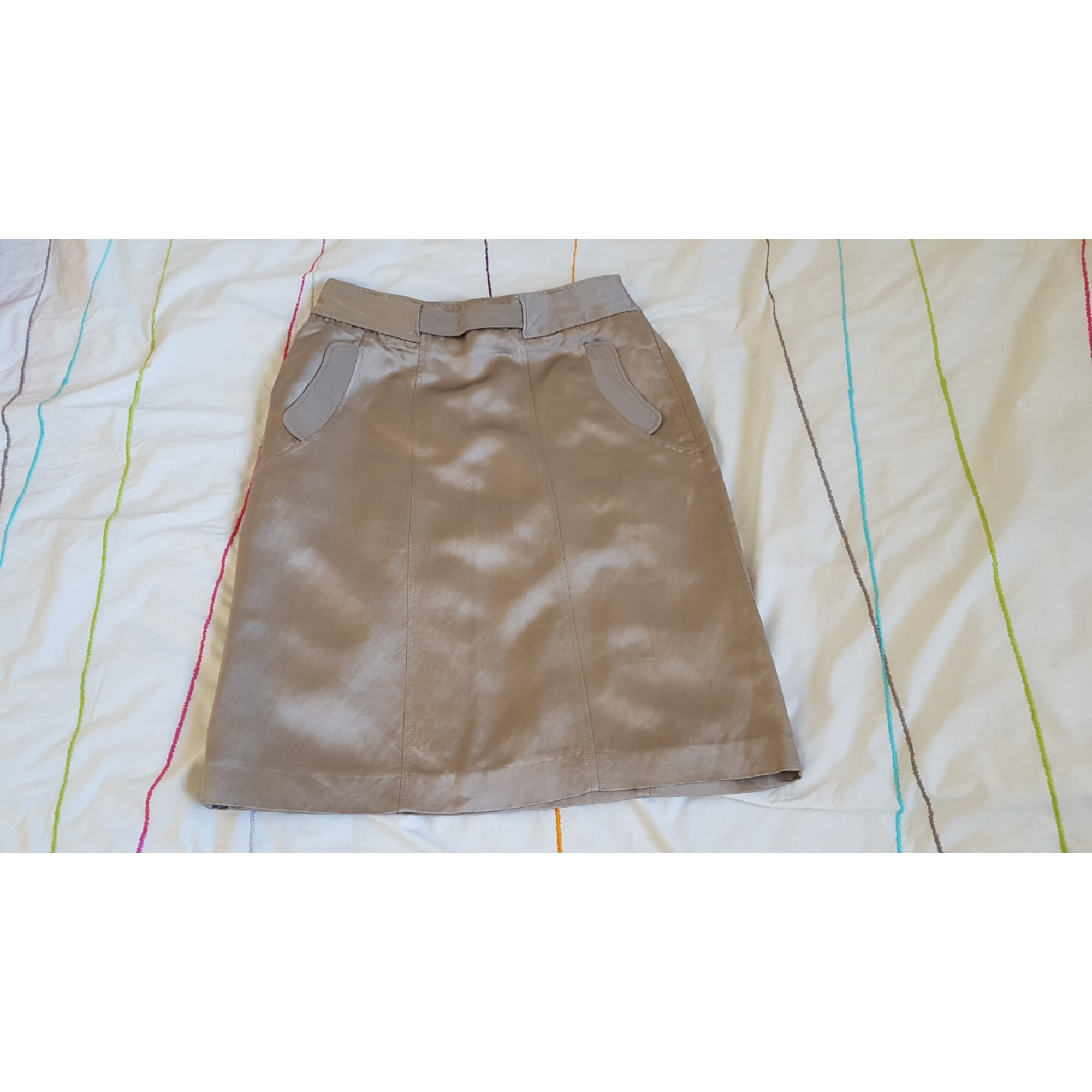 Jupe courte RODIER gris taupe