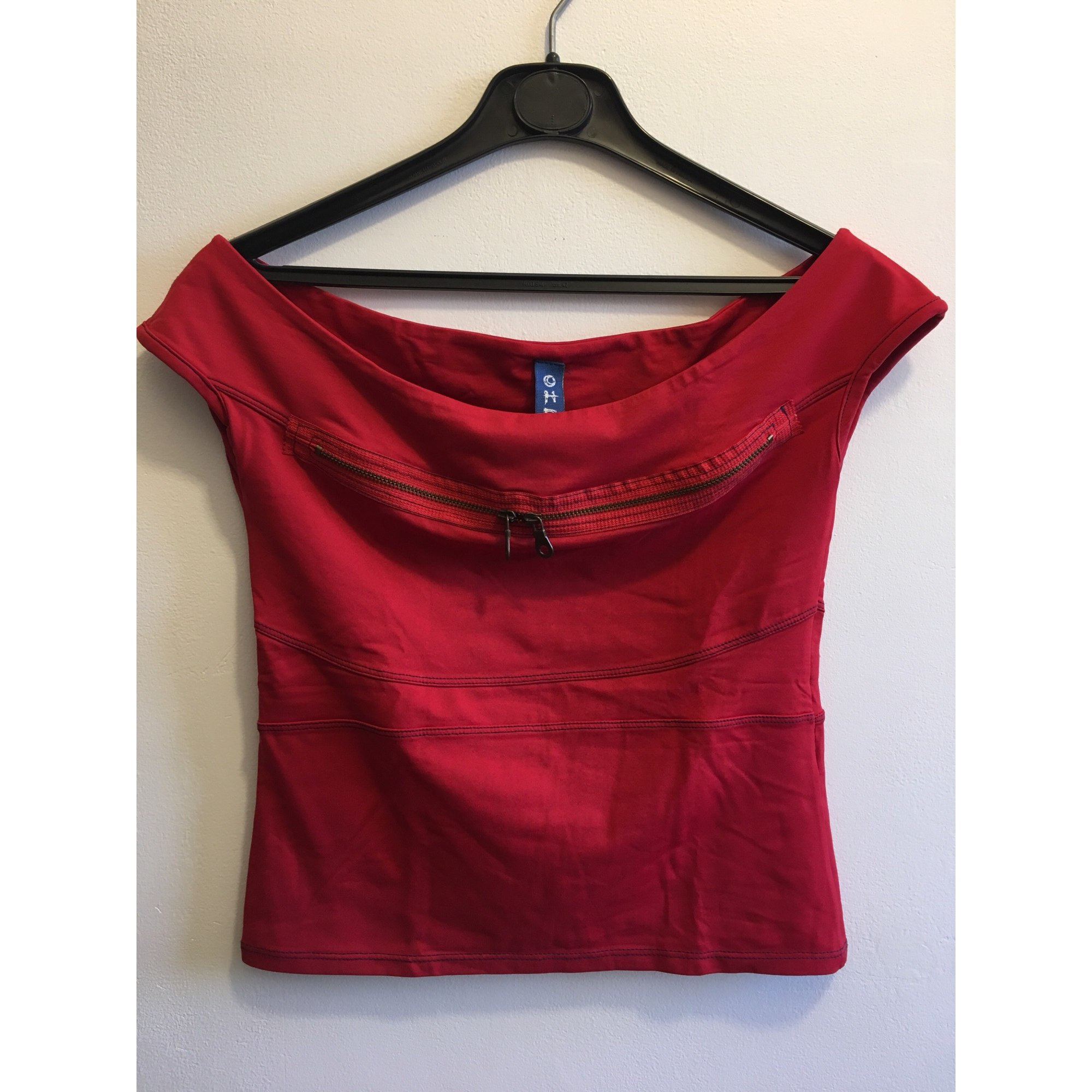Top, tee-shirt OHDD Rouge, bordeaux