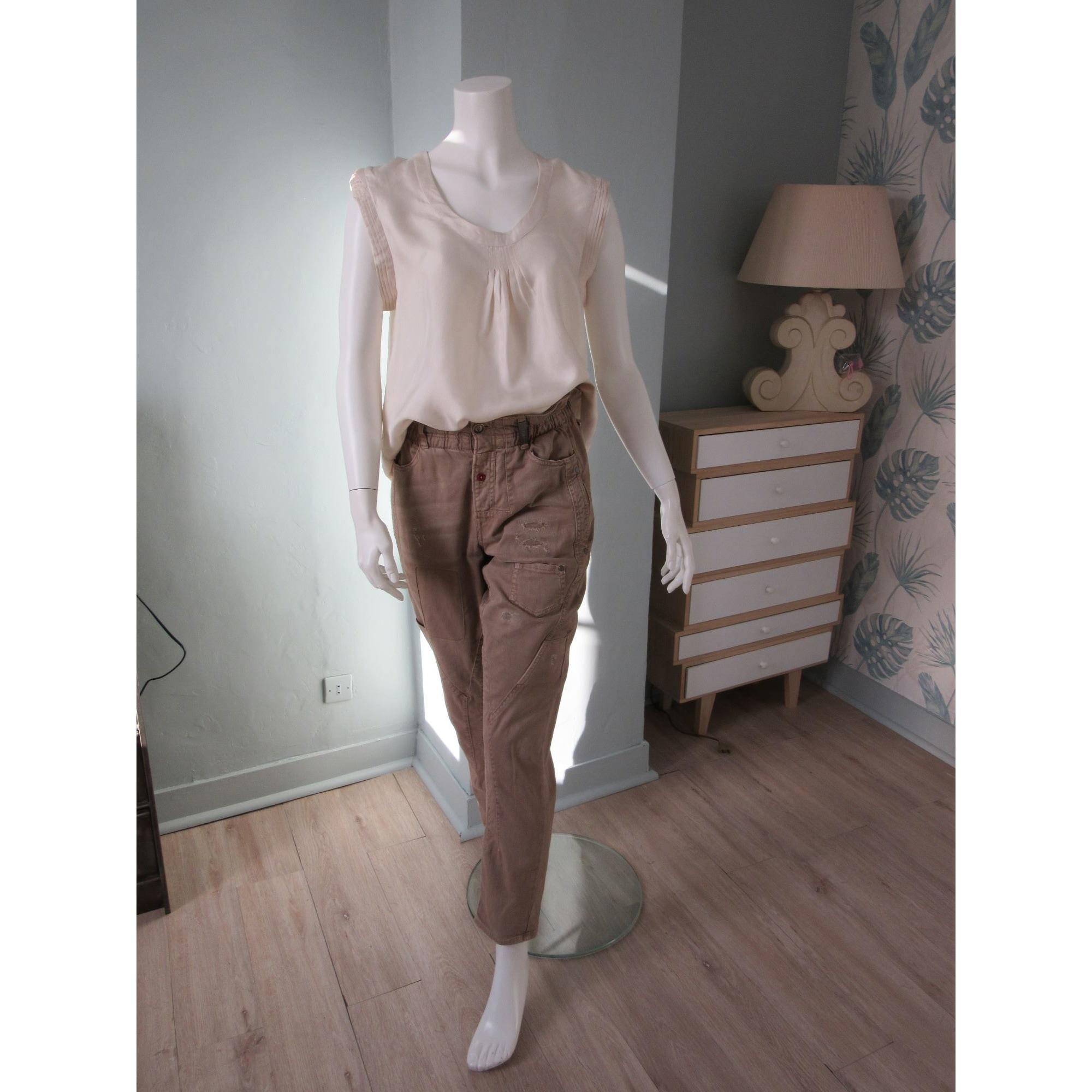 Pantalon large 2 HIGH Beige, camel