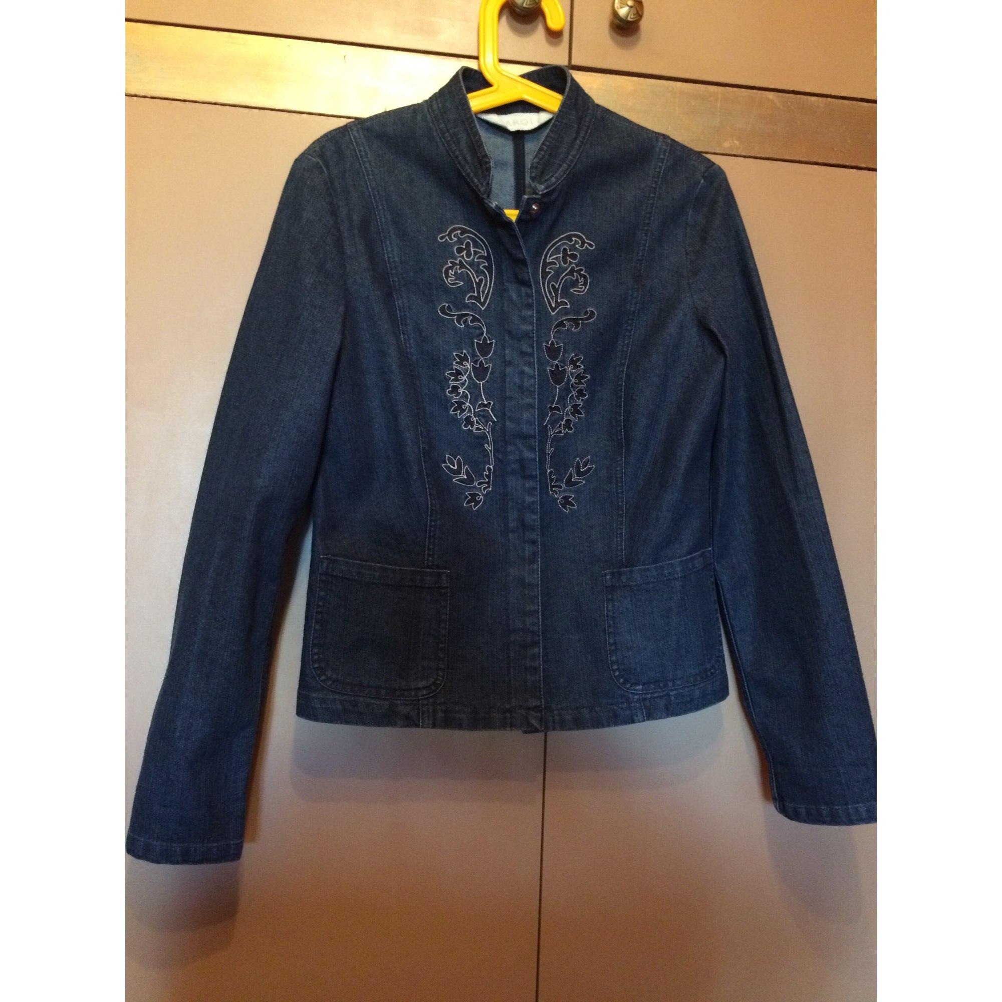 Veste en jean CAROLL Bleu, bleu marine, bleu turquoise