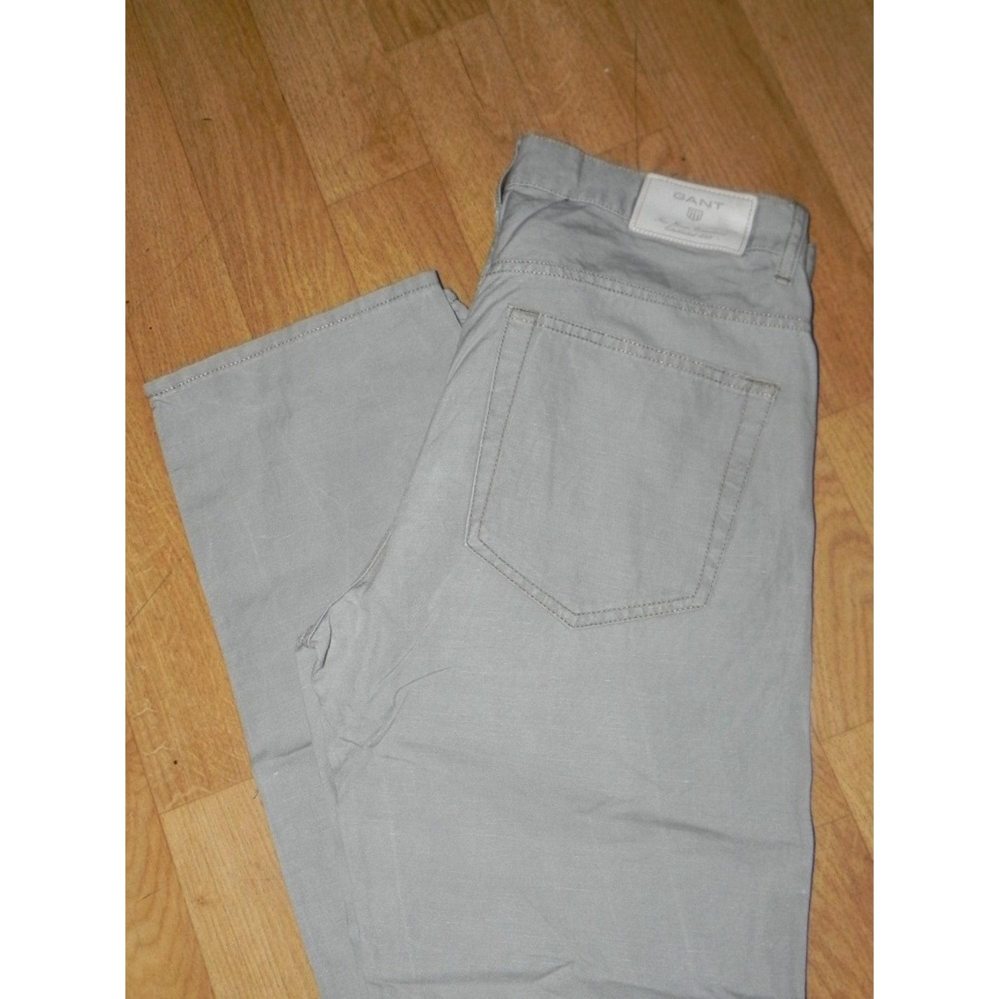 Jeans droit GANT Gris, anthracite