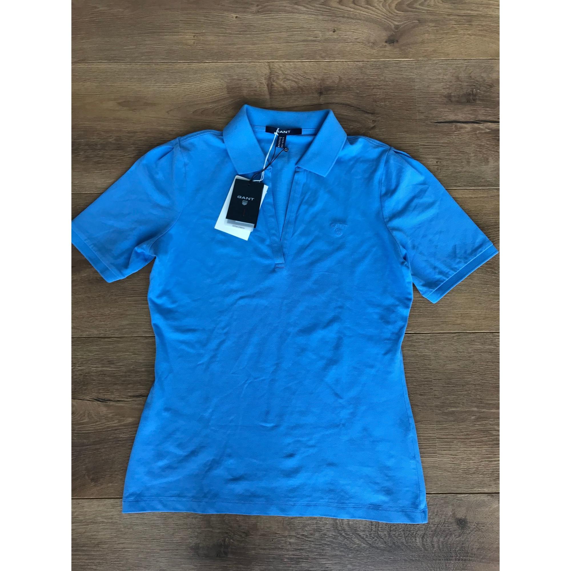 Polo GANT Bleu, bleu marine, bleu turquoise
