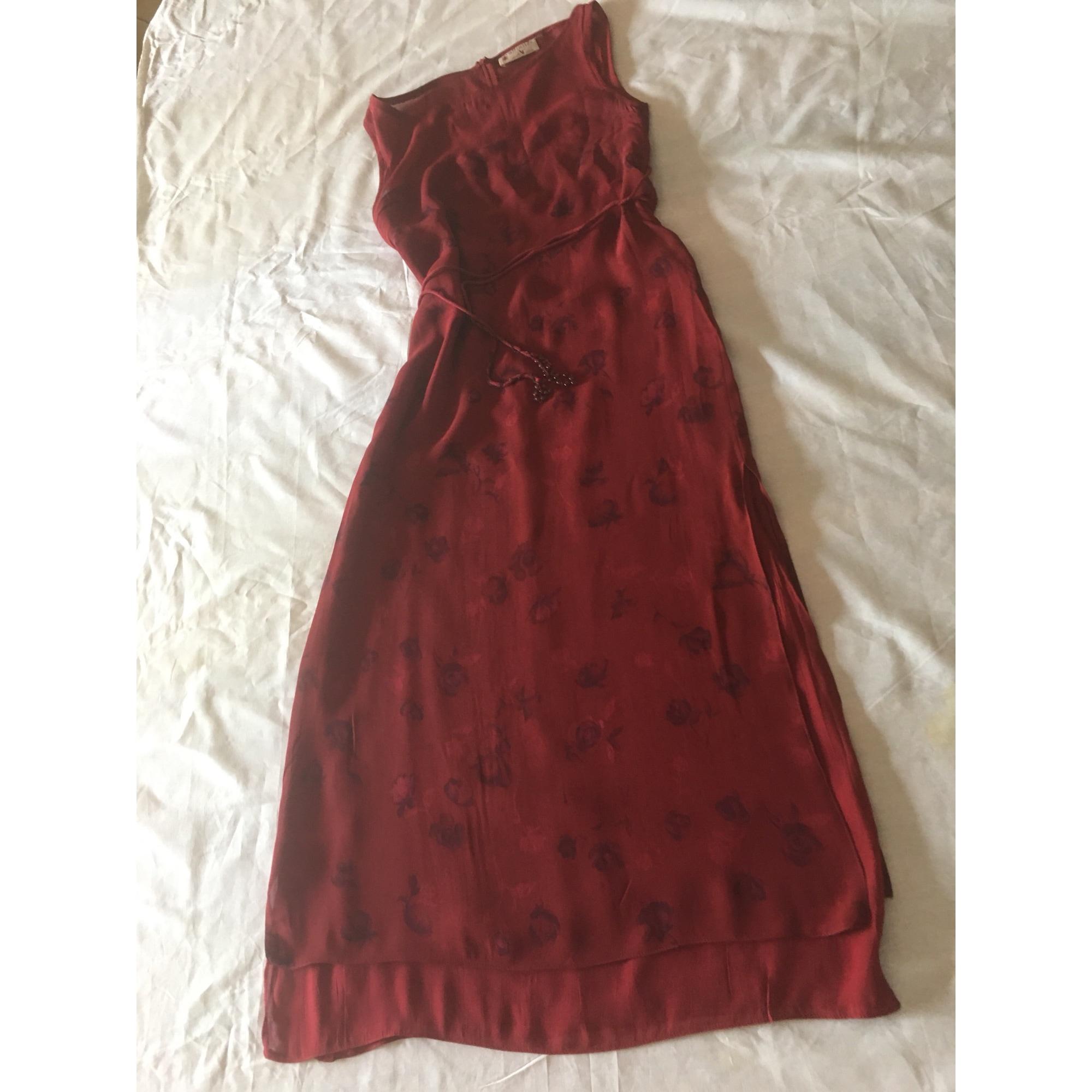 Robe longue AFFINITÉS Rouge, bordeaux